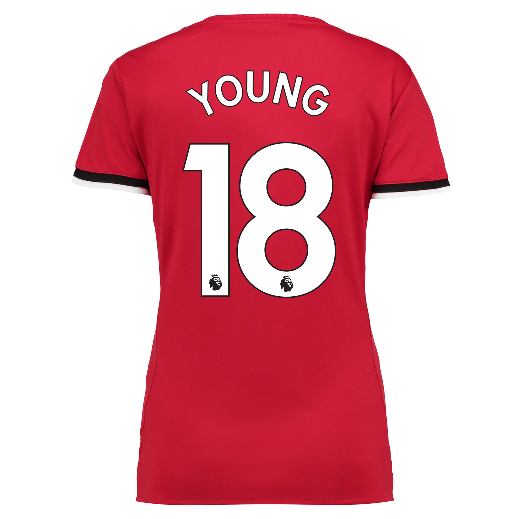 Manchester United Home Shirt 2017-18 - Womens with Young 18 printing