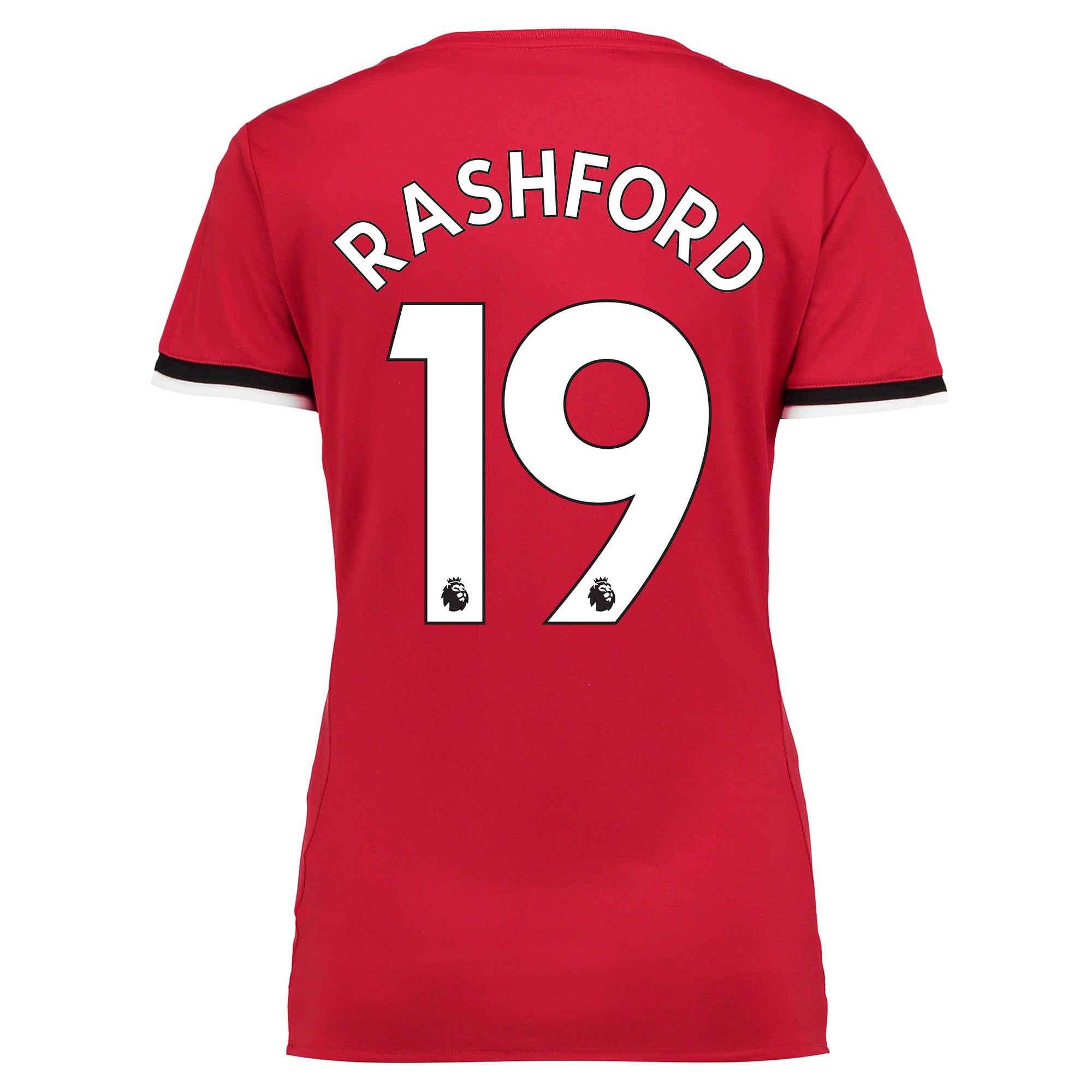 Manchester United Home Shirt 2017-18 - Womens with Rashford 19 printin