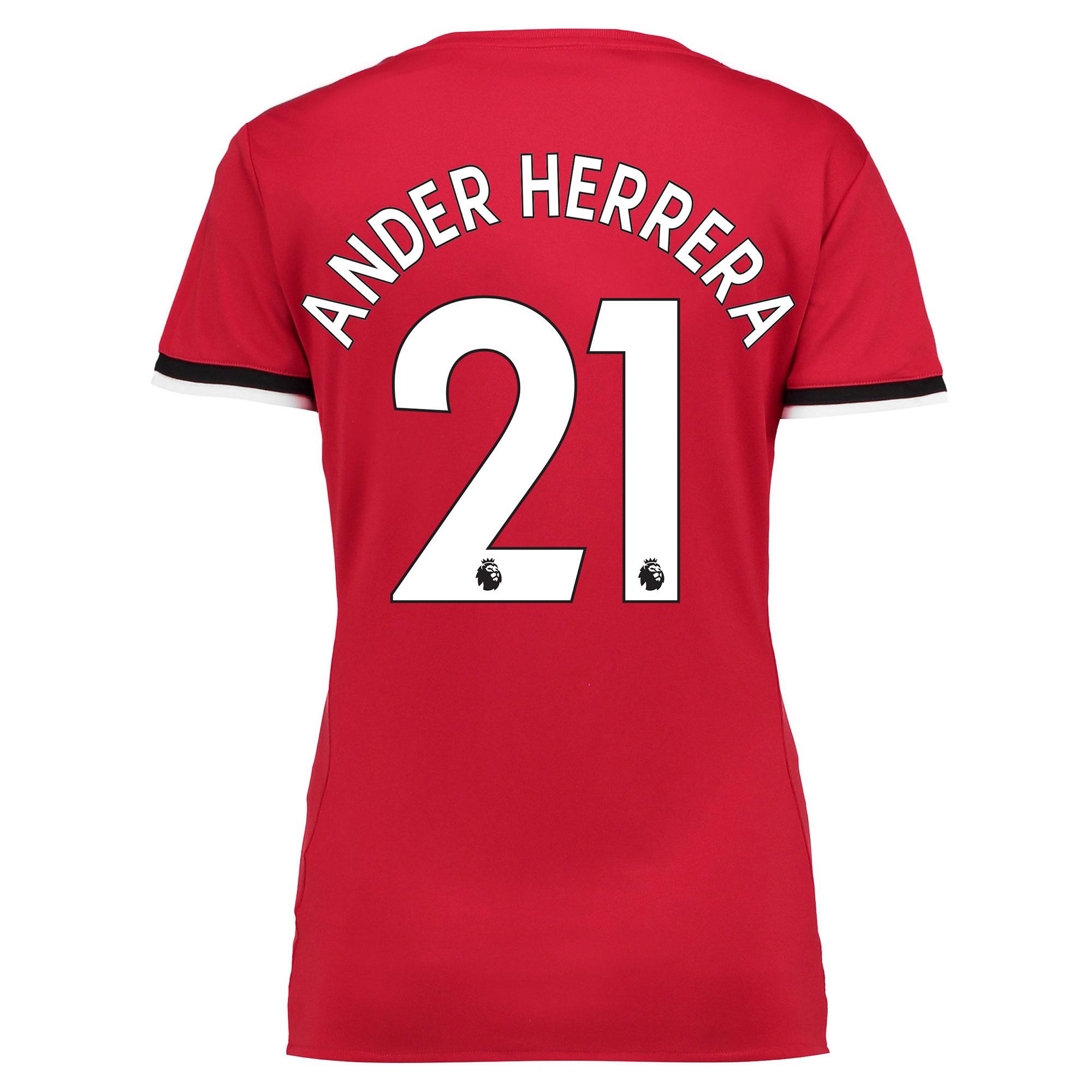 Manchester United Home Shirt 2017-18 - Womens with Ander Herrera 21 pr