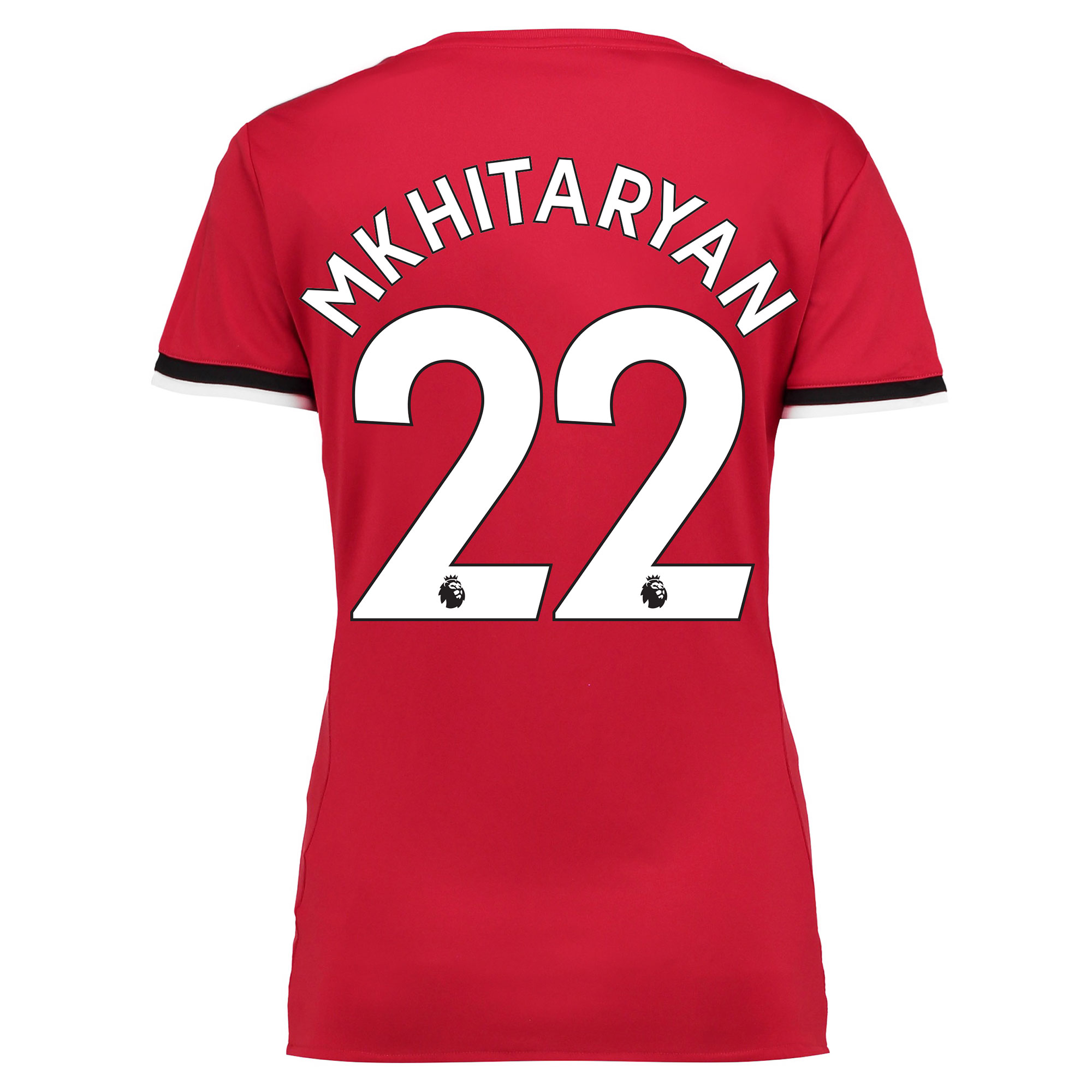 Manchester United Home Shirt 2017-18 - Womens with Mkhitaryan 22 print