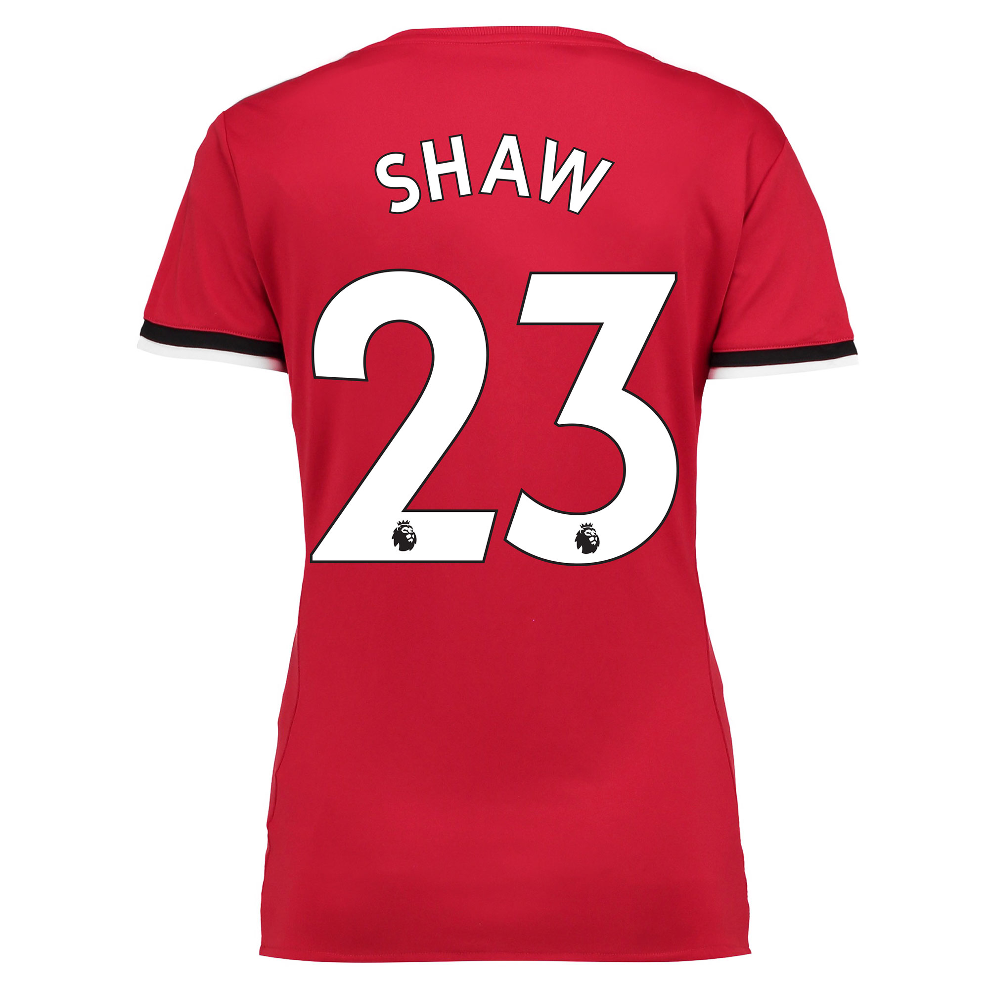 Manchester United Home Shirt 2017-18 - Womens with Shaw 23 printing