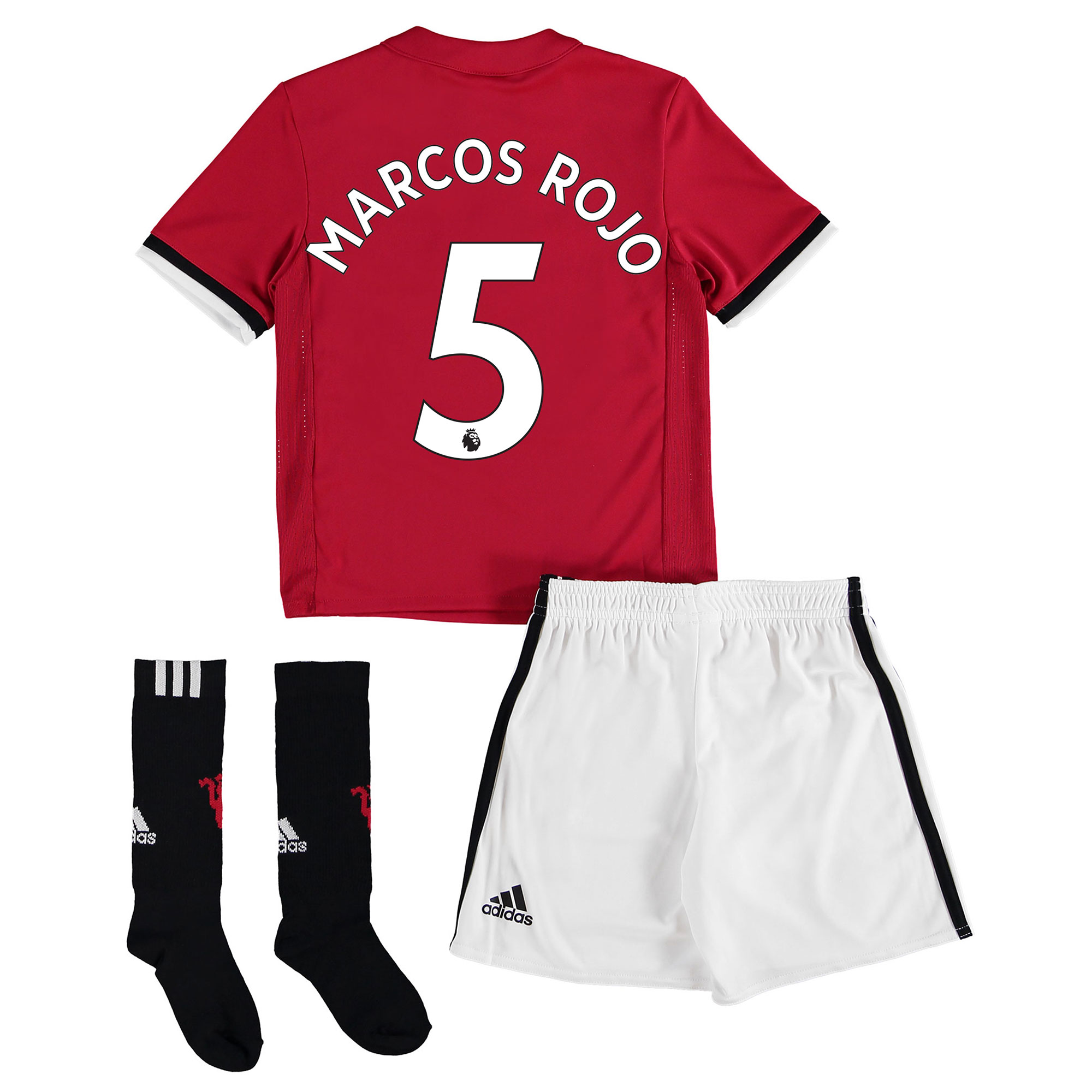 Manchester United Home Mini Kit 2017-18 with Marcos Rojo 5 printing