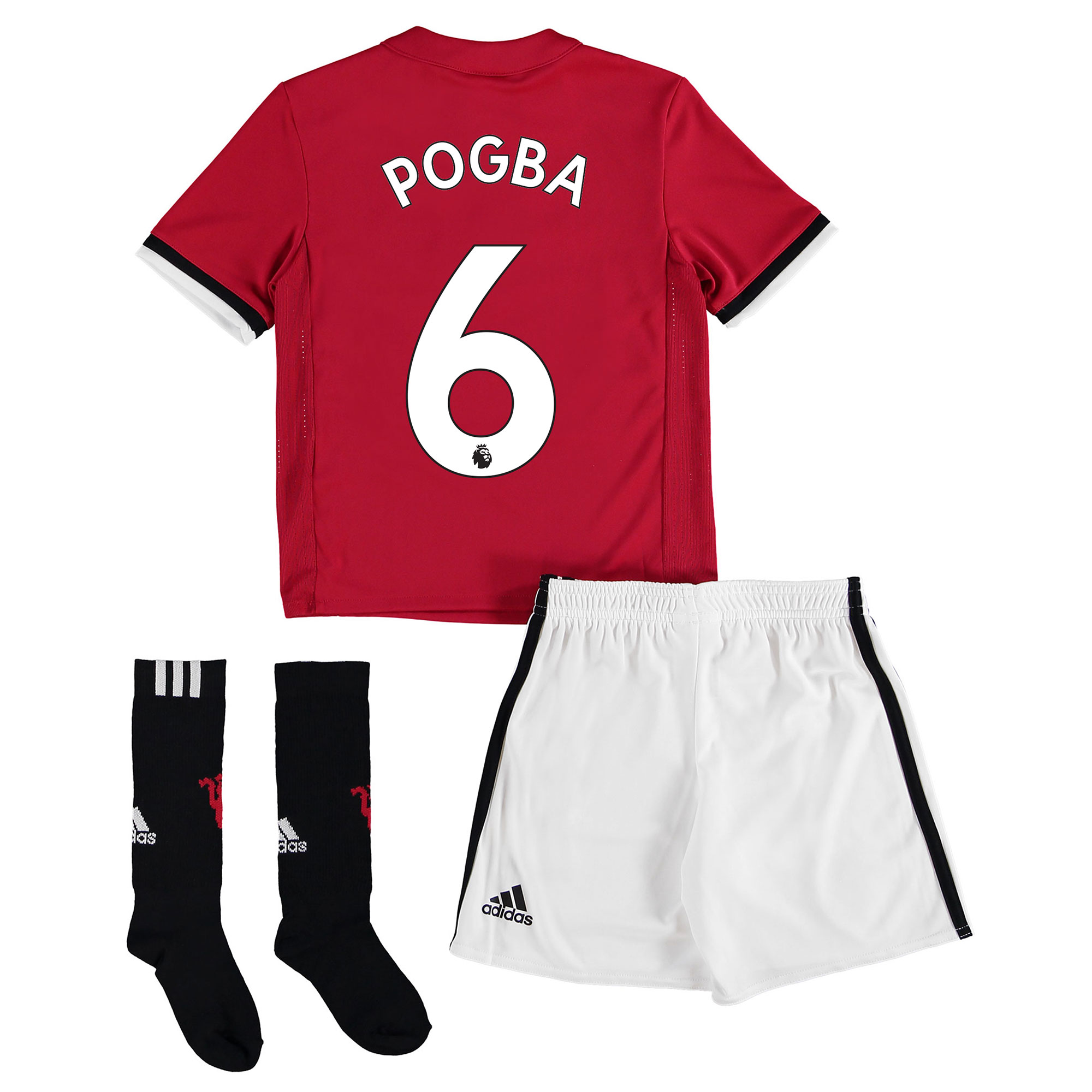 Manchester United Home Mini Kit 2017-18 with Pogba 6 printing