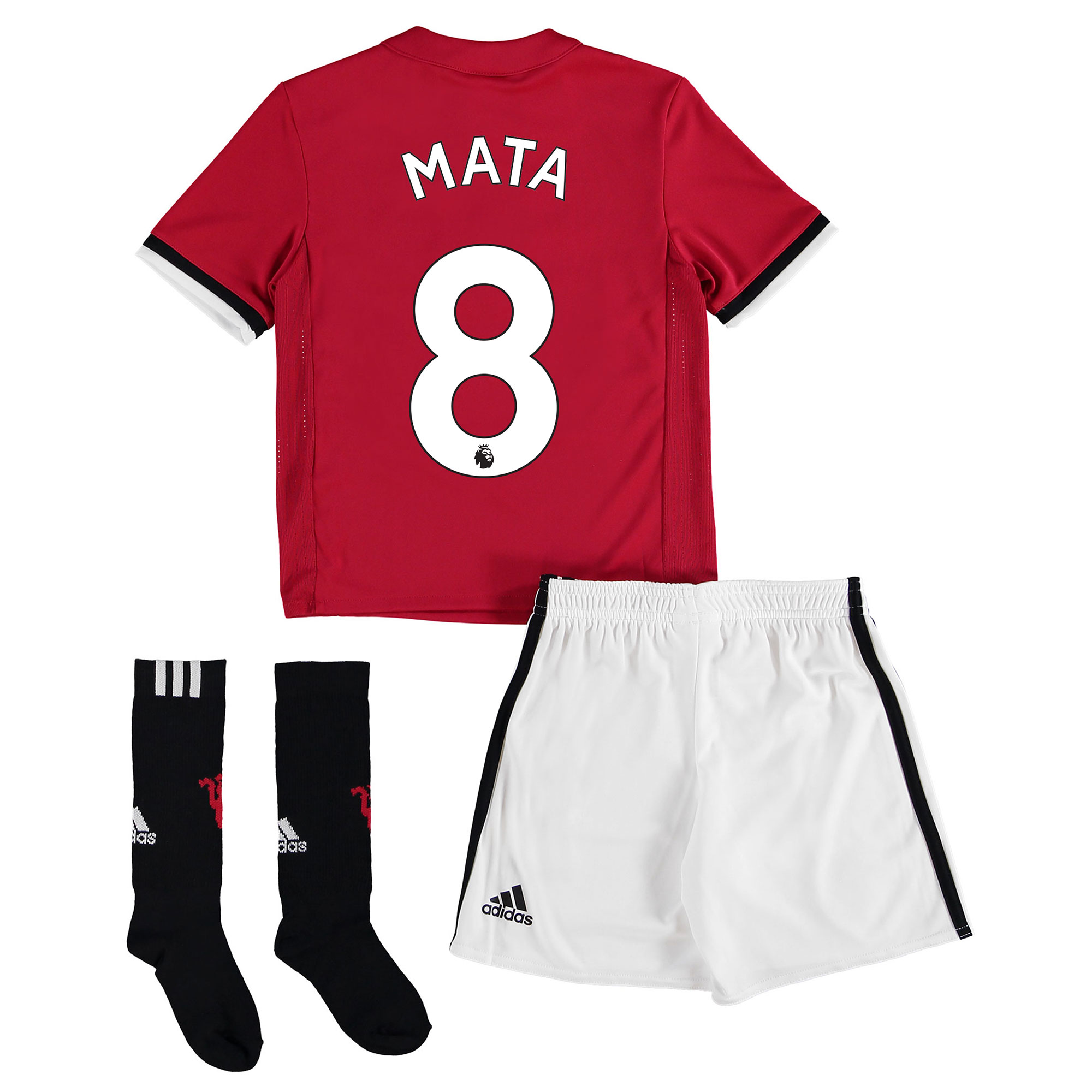 Manchester United Home Mini Kit 2017-18 with Mata 8 printing