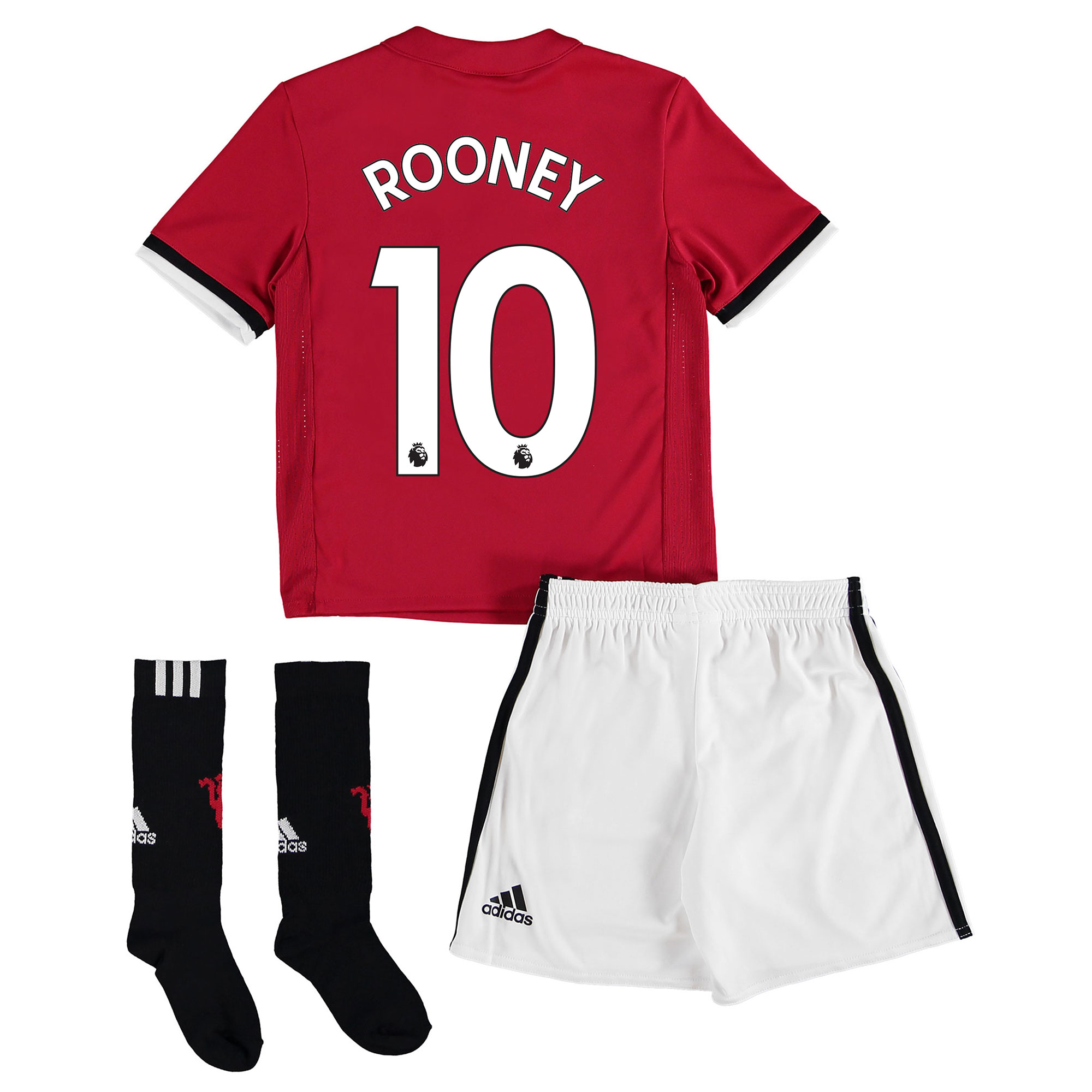 Manchester United Home Mini Kit 2017-18 with Rooney 10 printing