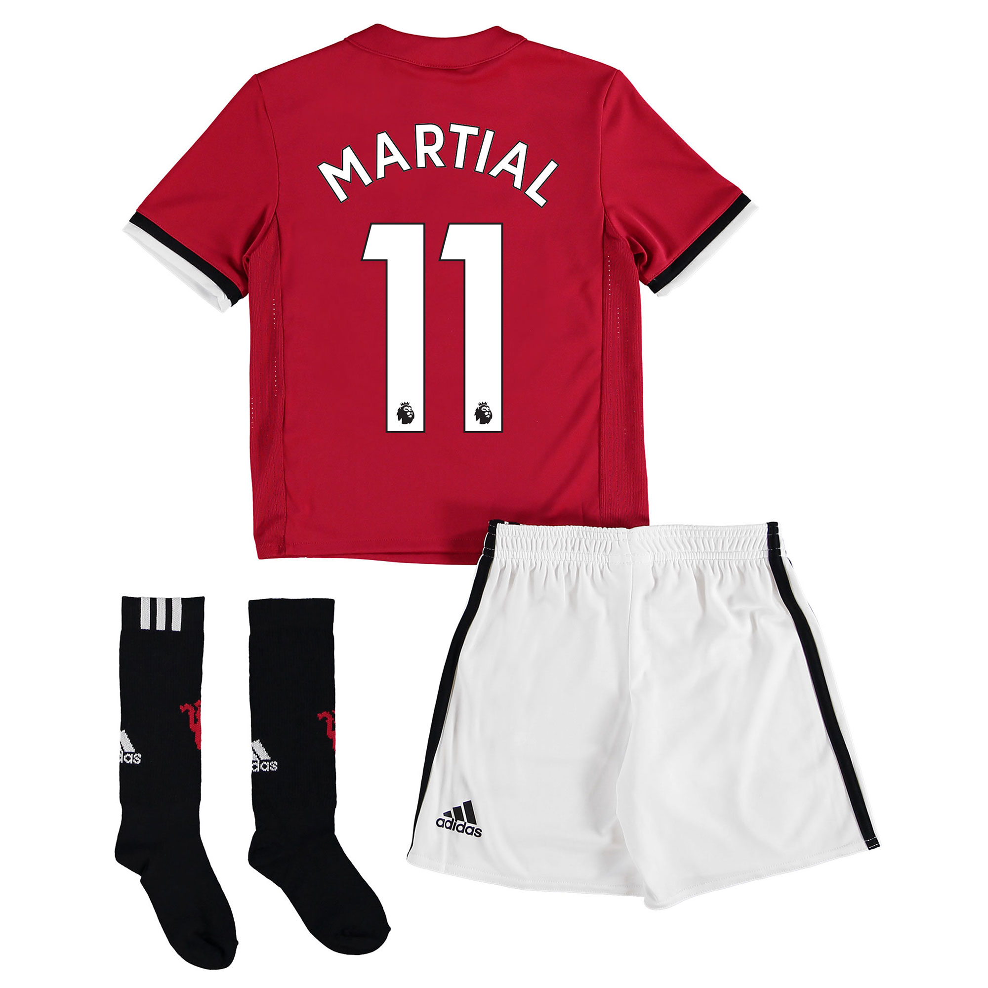 Manchester United Home Mini Kit 2017-18 with Martial 11 printing