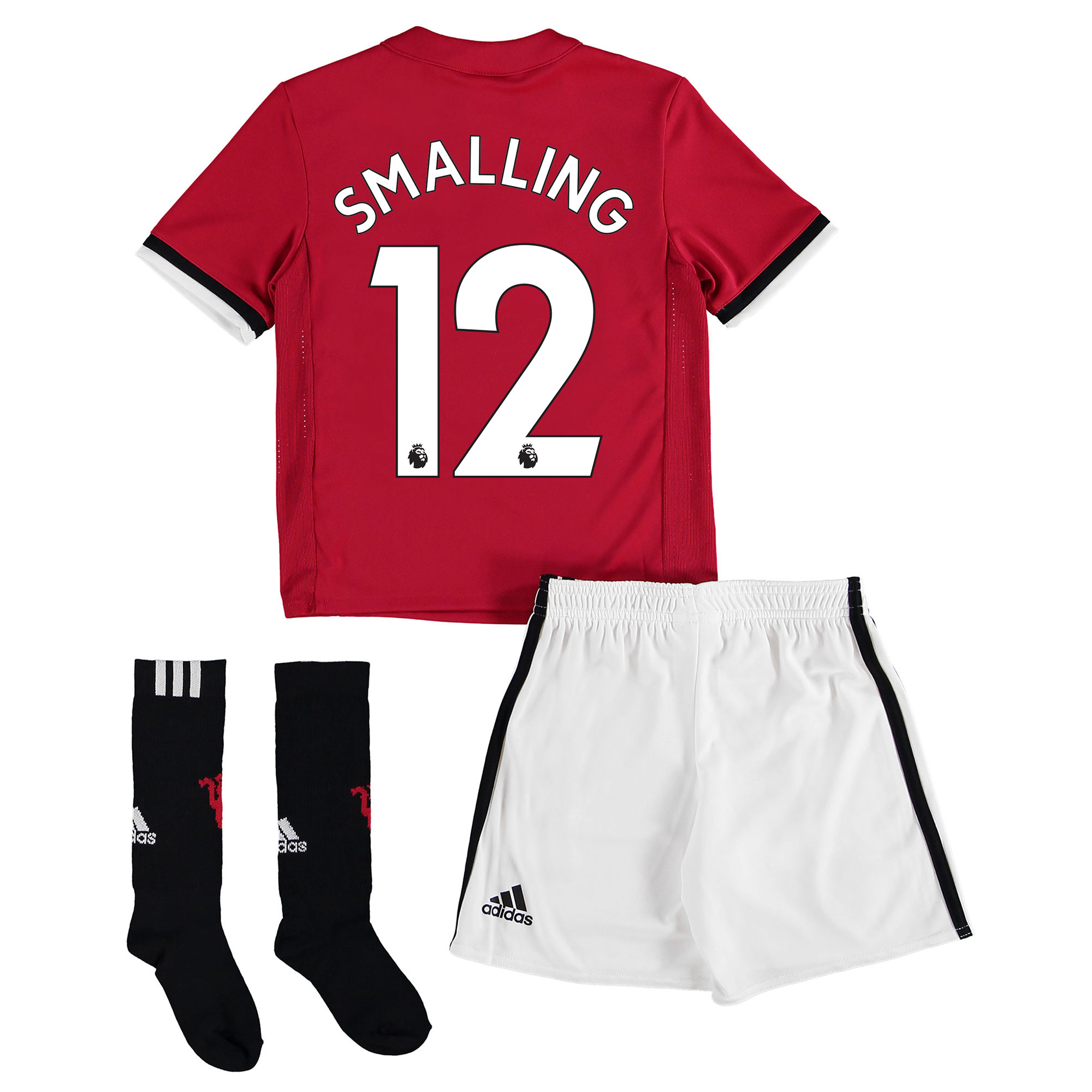 Manchester United Home Mini Kit 2017-18 with Smalling 12 printing