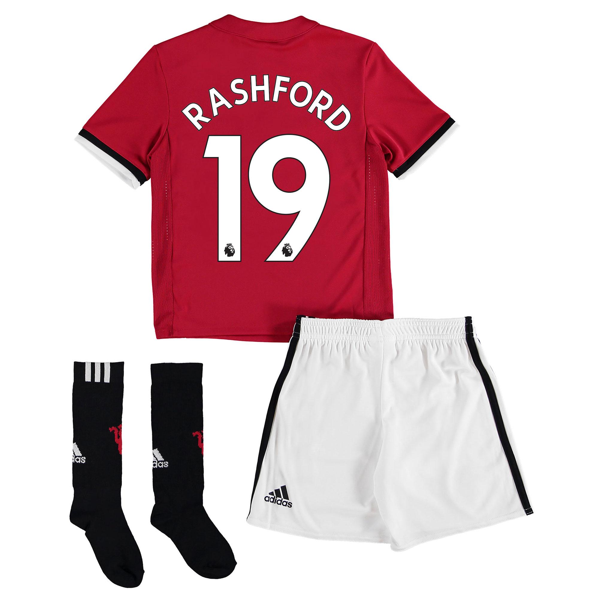 Manchester United Home Mini Kit 2017-18 with Rashford 19 printing