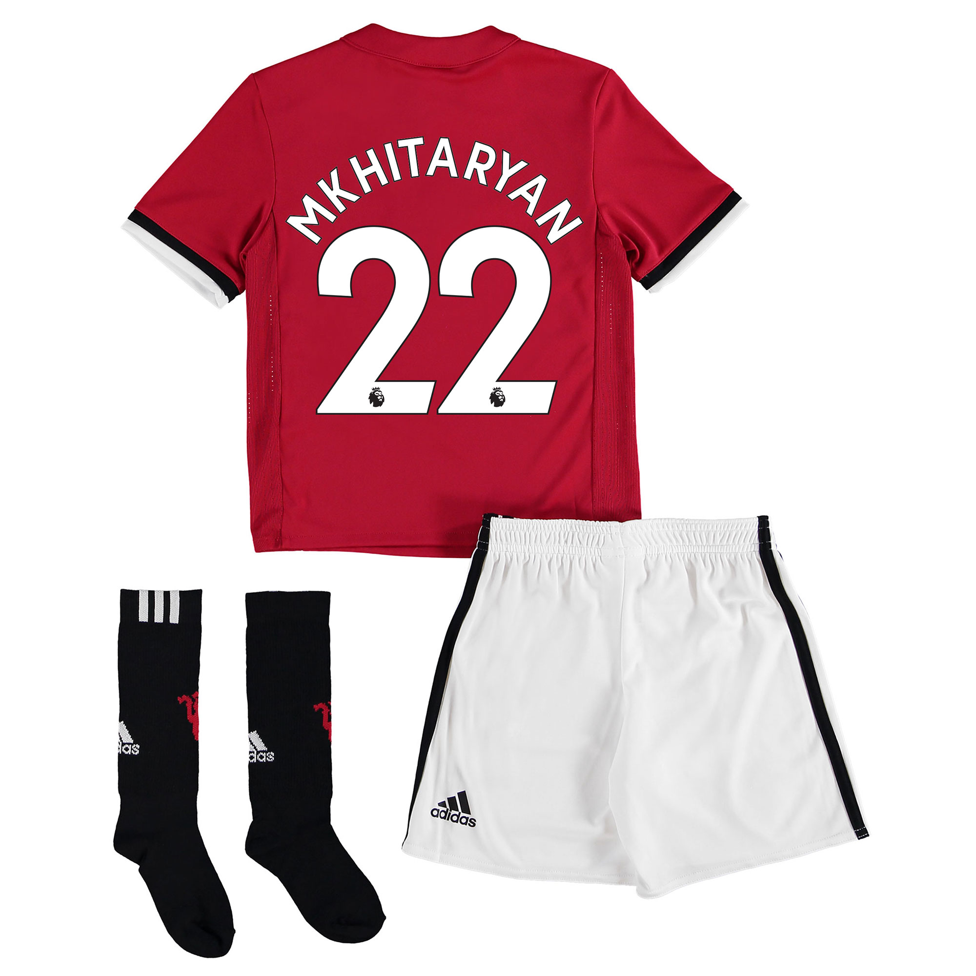 Manchester United Home Mini Kit 2017-18 with Mkhitaryan 22 printing