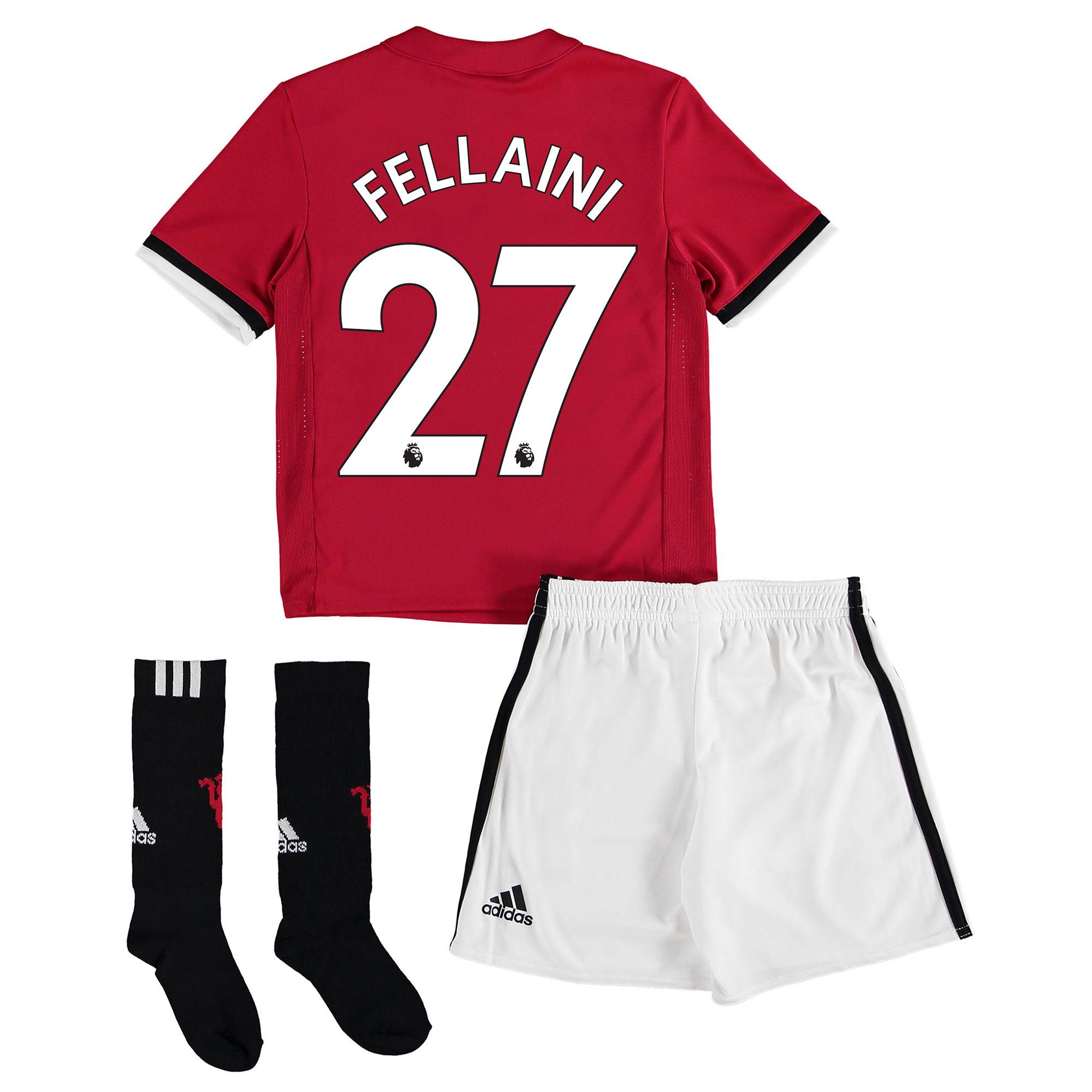 Manchester United Home Mini Kit 2017-18 with Fellaini 27 printing