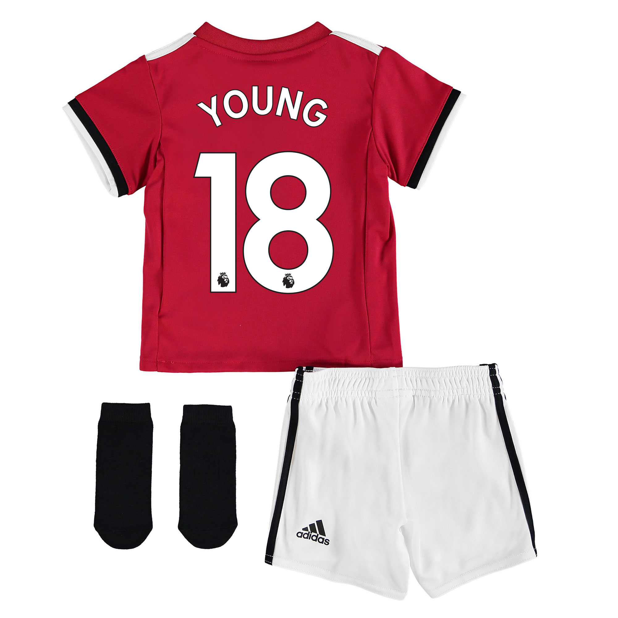 Manchester United Home Baby Kit 2017-18 with Young 18 printing