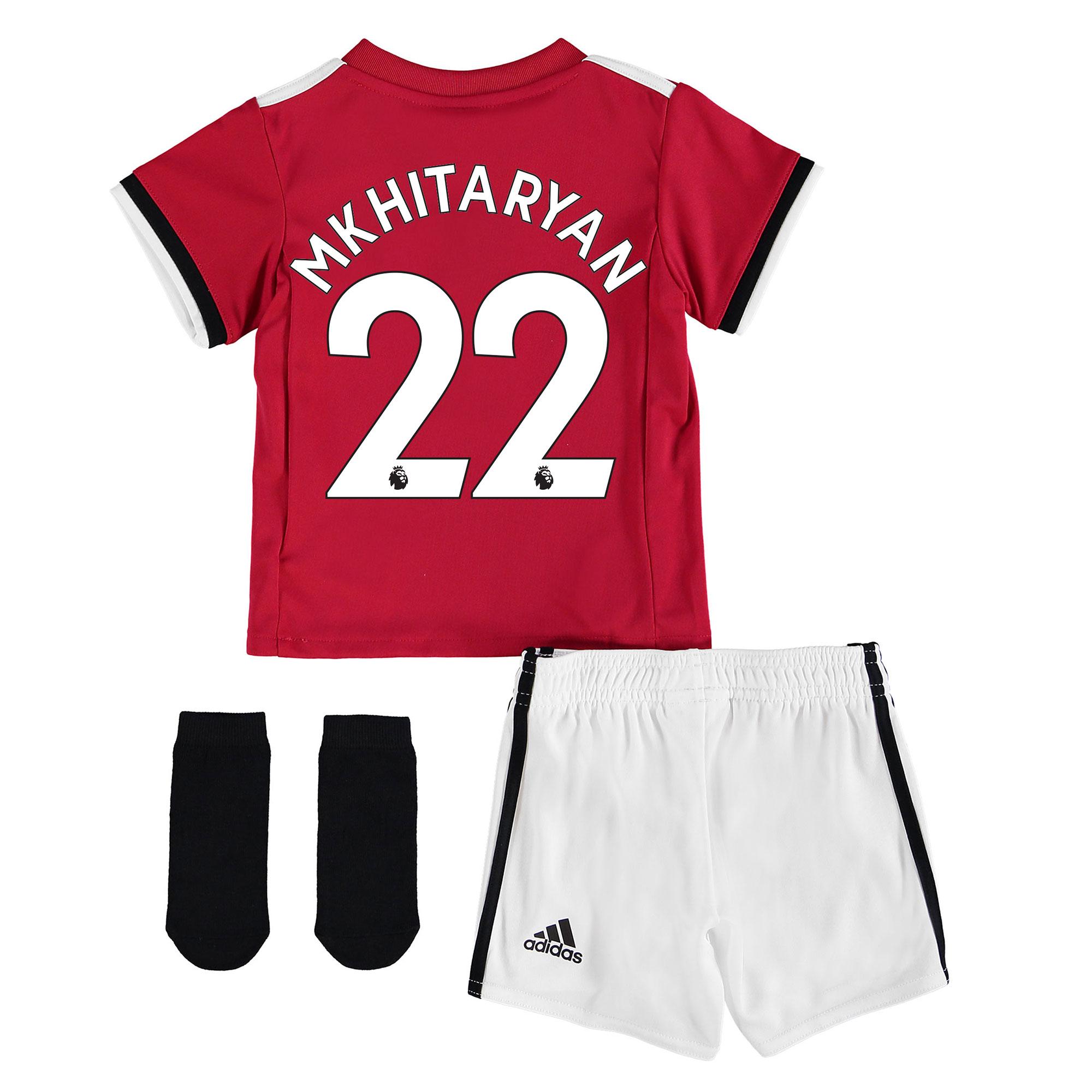 Manchester United Home Baby Kit 2017-18 with Mkhitaryan 22 printing