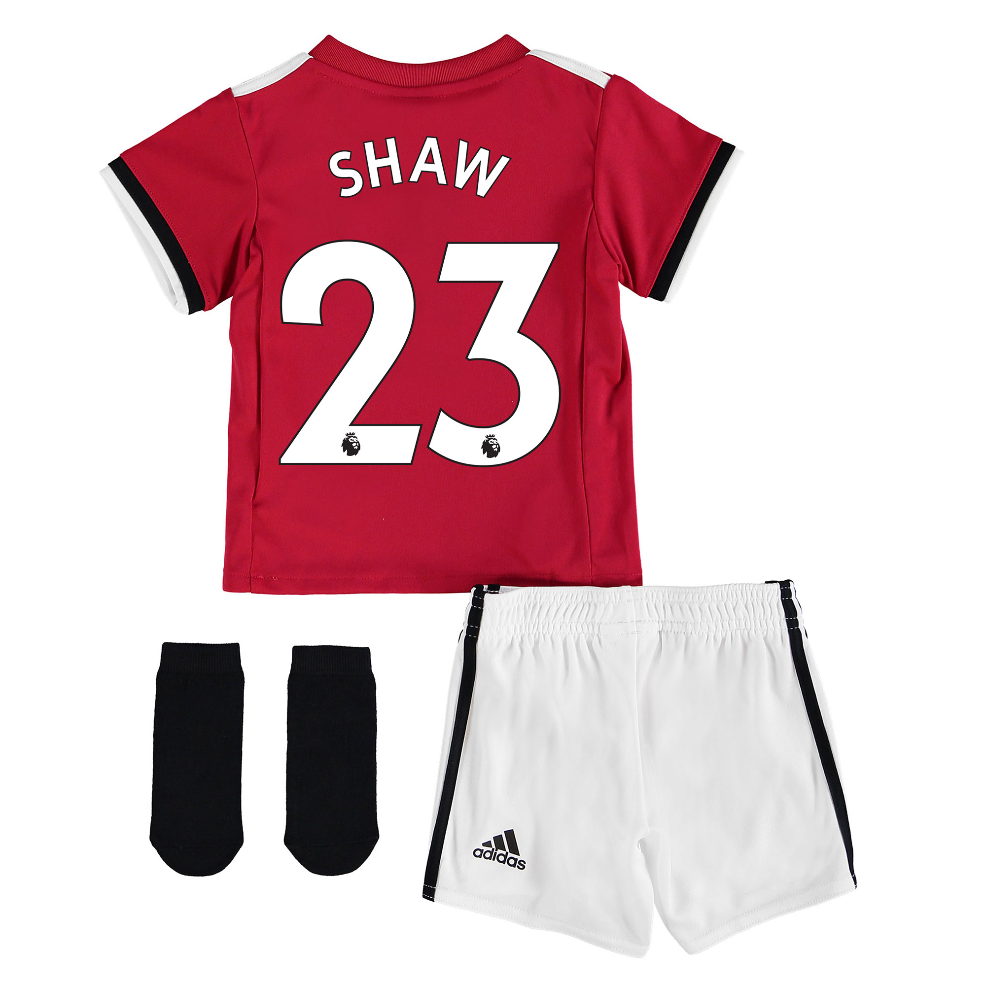Manchester United Home Baby Kit 2017-18 with Shaw 23 printing