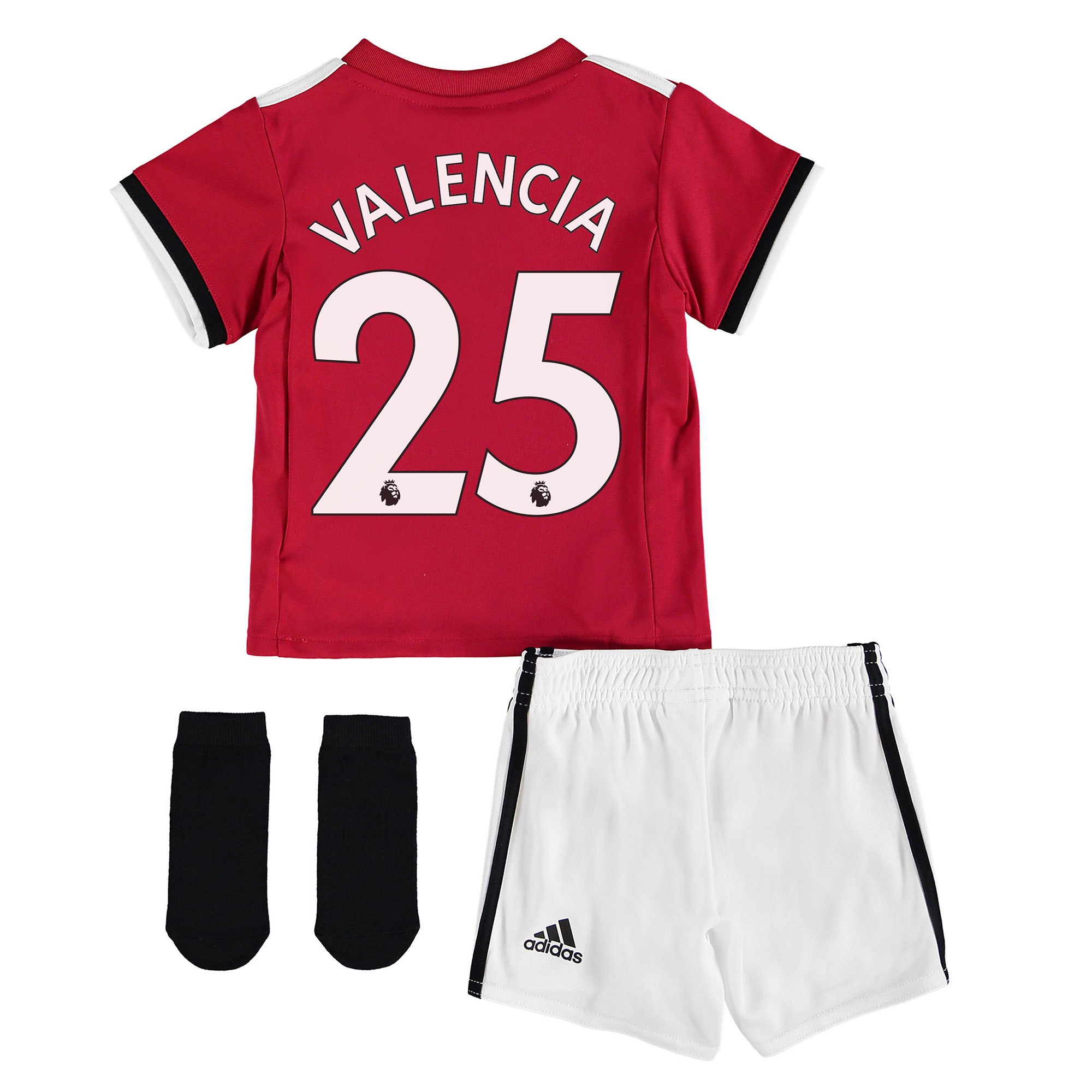 Manchester United Home Baby Kit 2017-18 with Valencia 25 printing