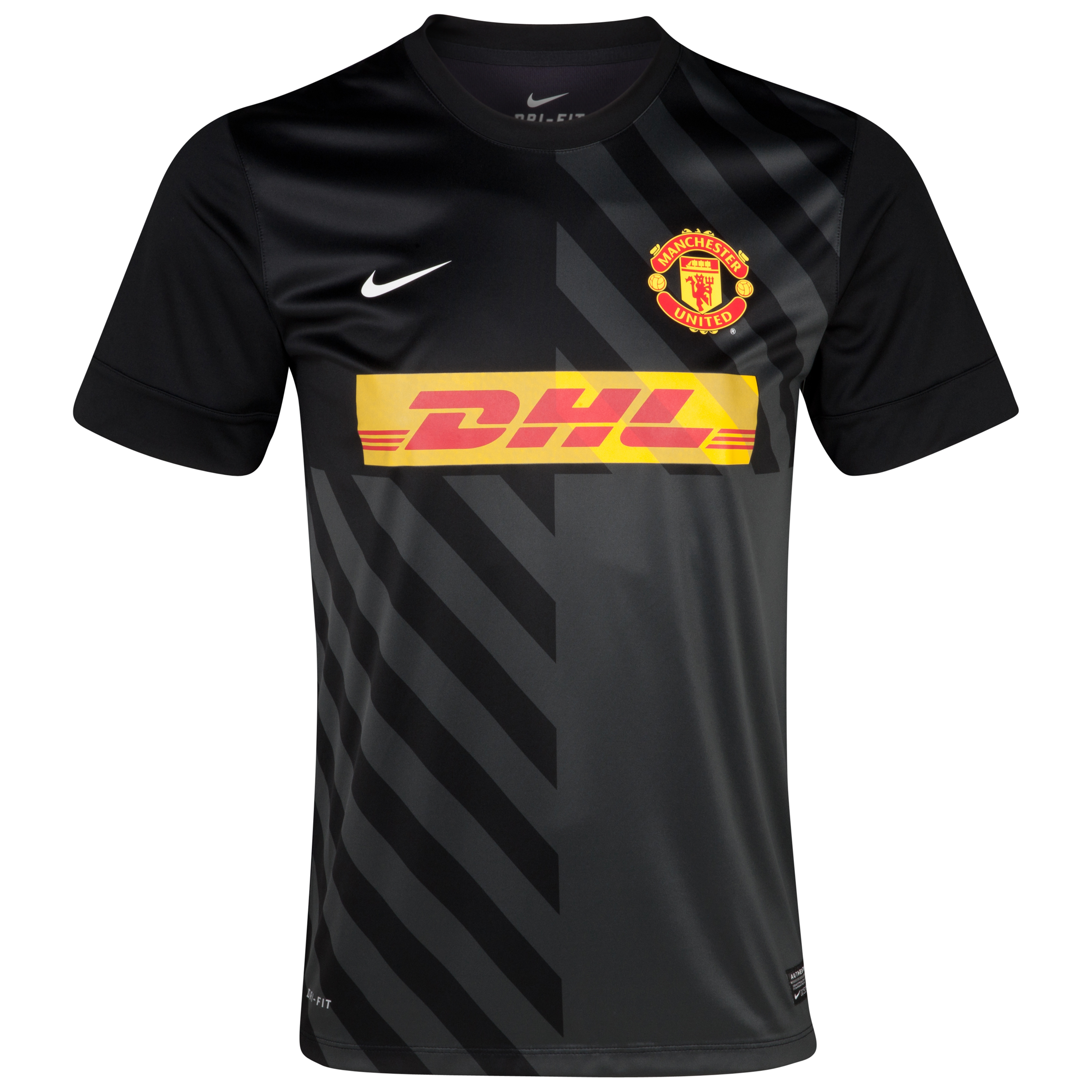 Manchester United Short Sleeve Pre Match Top 1 - Black/Anthracite/White