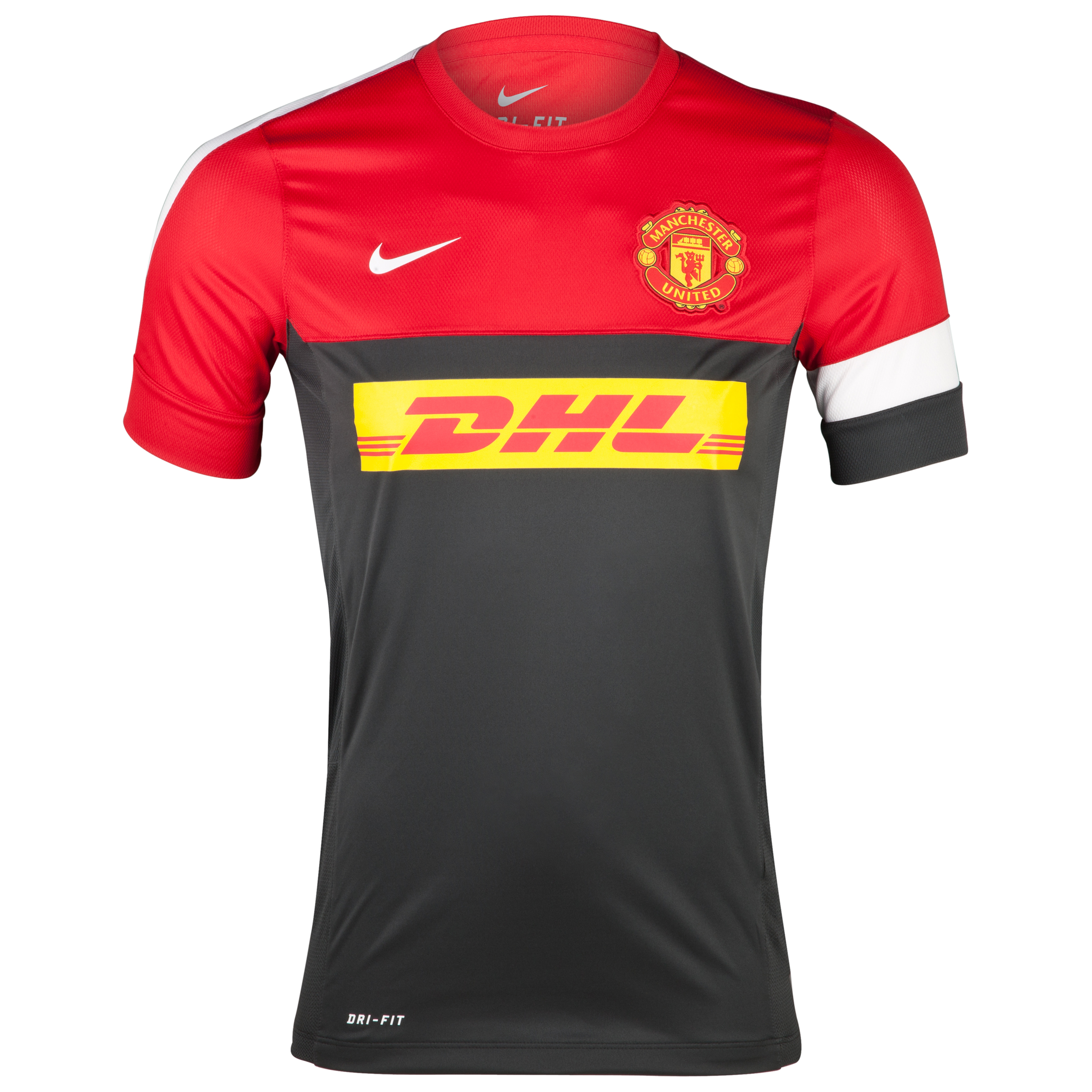 Manchester United Short Sleeve Training Top 1 - Anthracite/Diablo Red/White/White