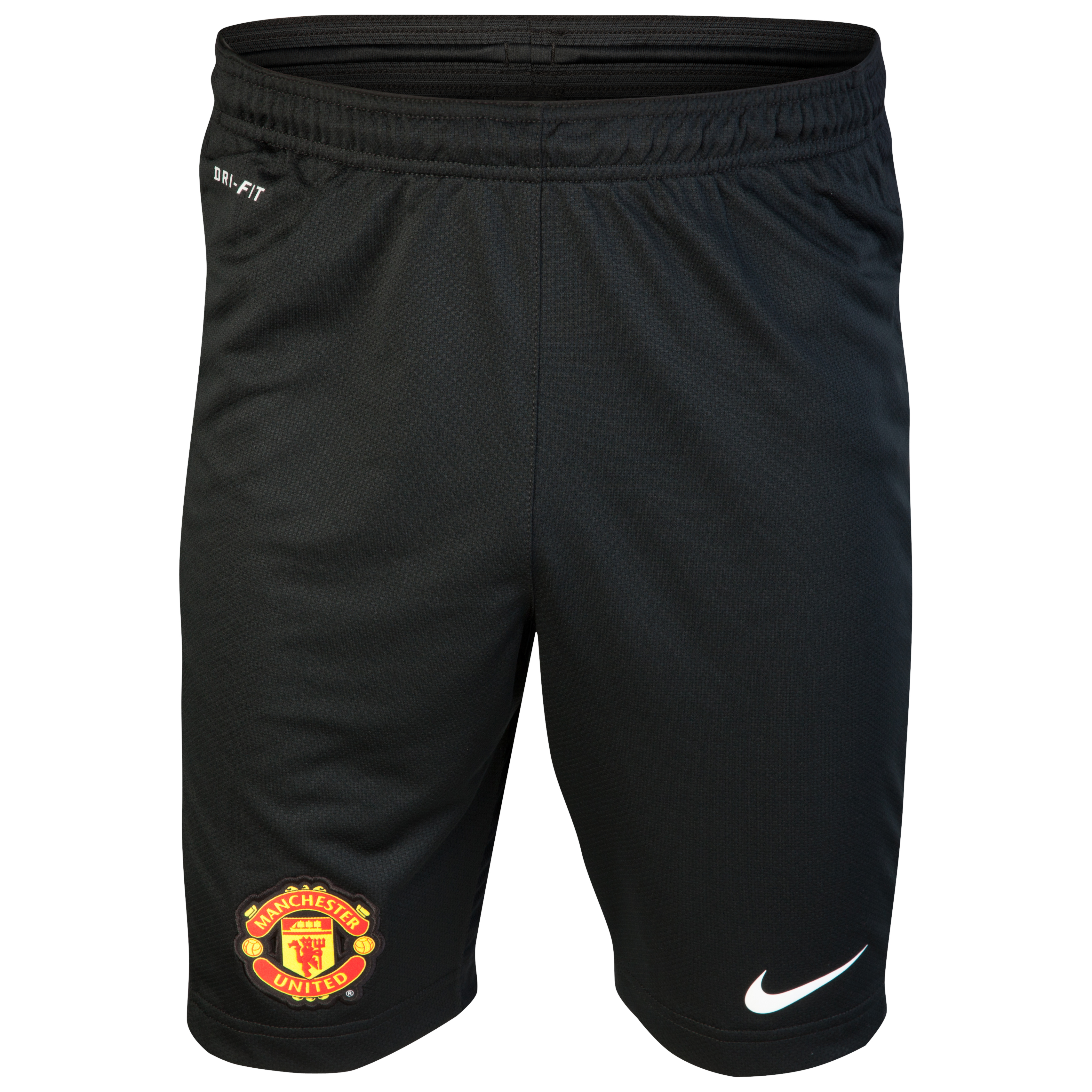Manchester United Longer Knit Short - Black/White
