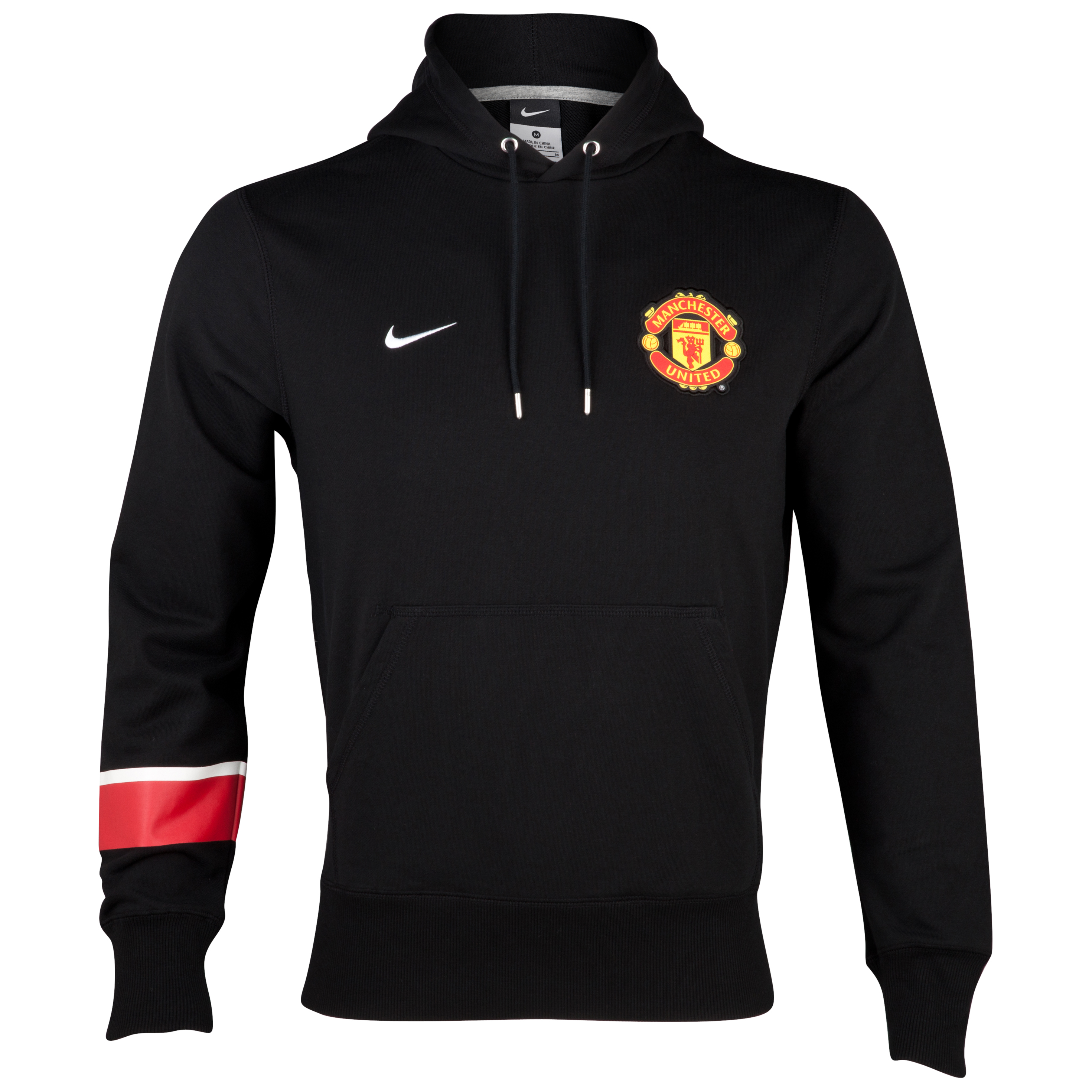 Manchester United Core Hoodie - Black/Black/White