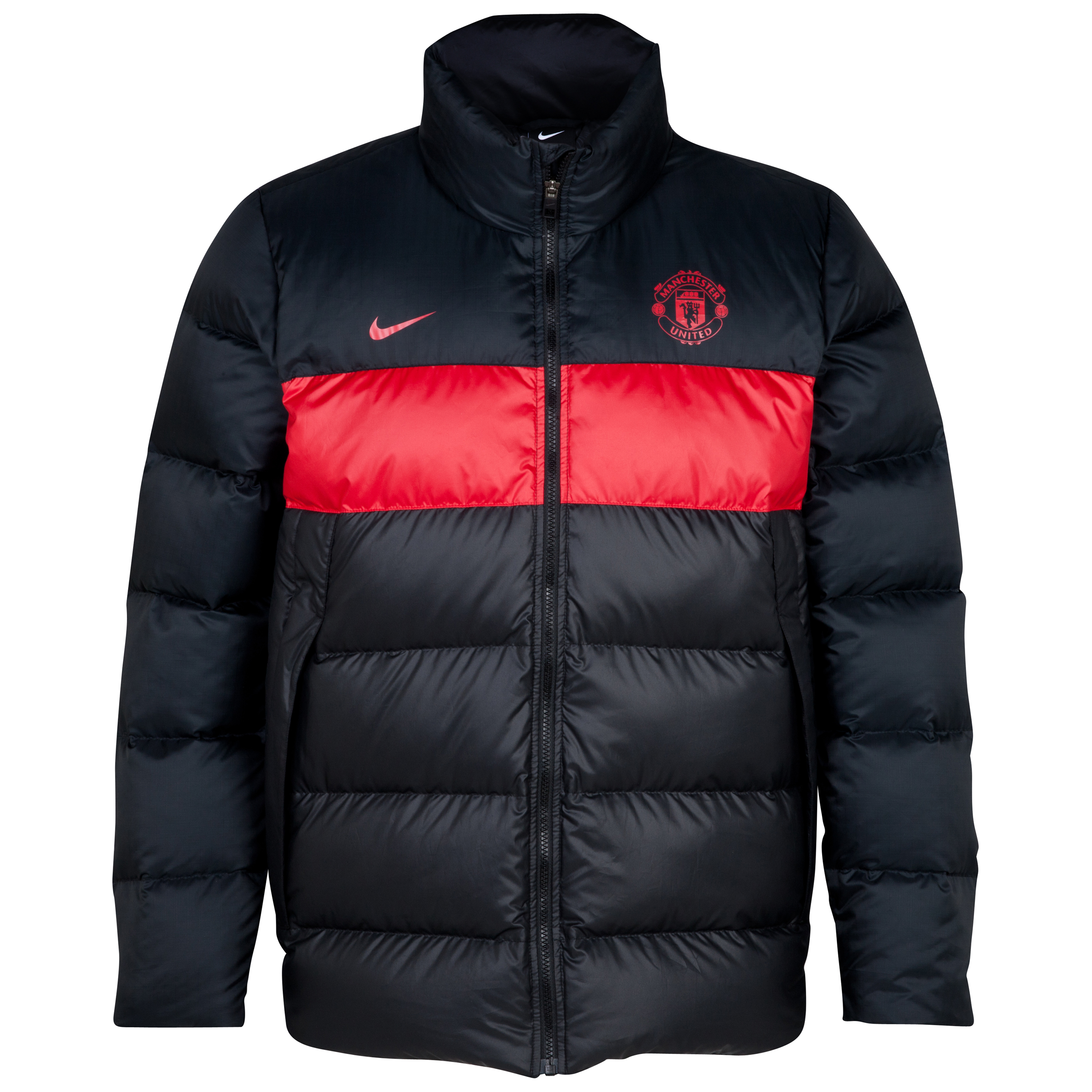 Manchester United Down Jacket - Black/ Diablo Red