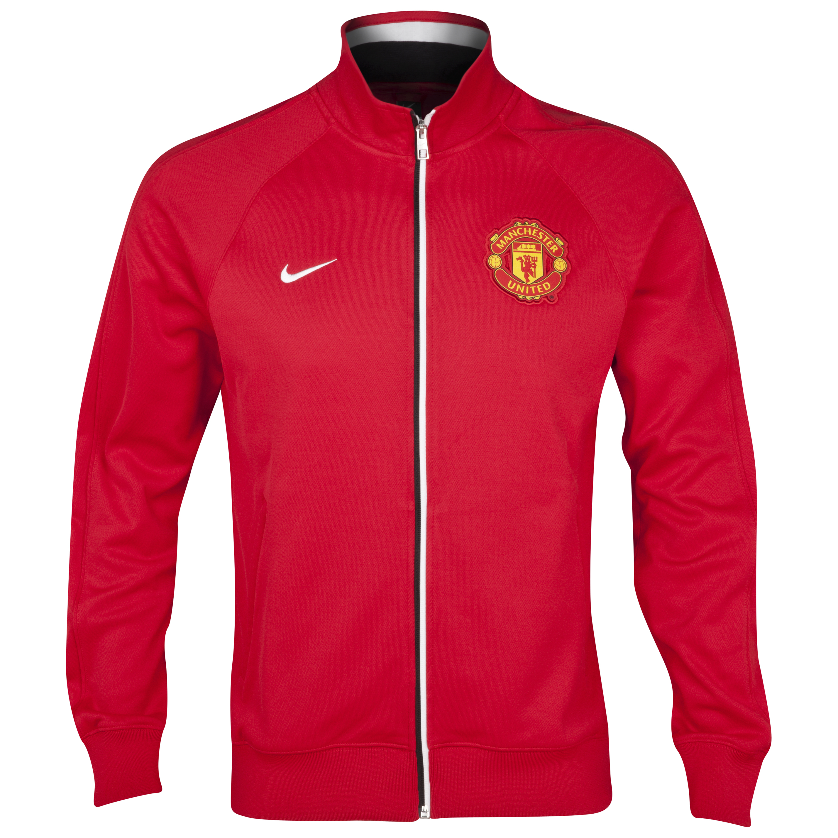 Manchester United Core Trainer Jacket - Diablo Red/Diablo Red/White