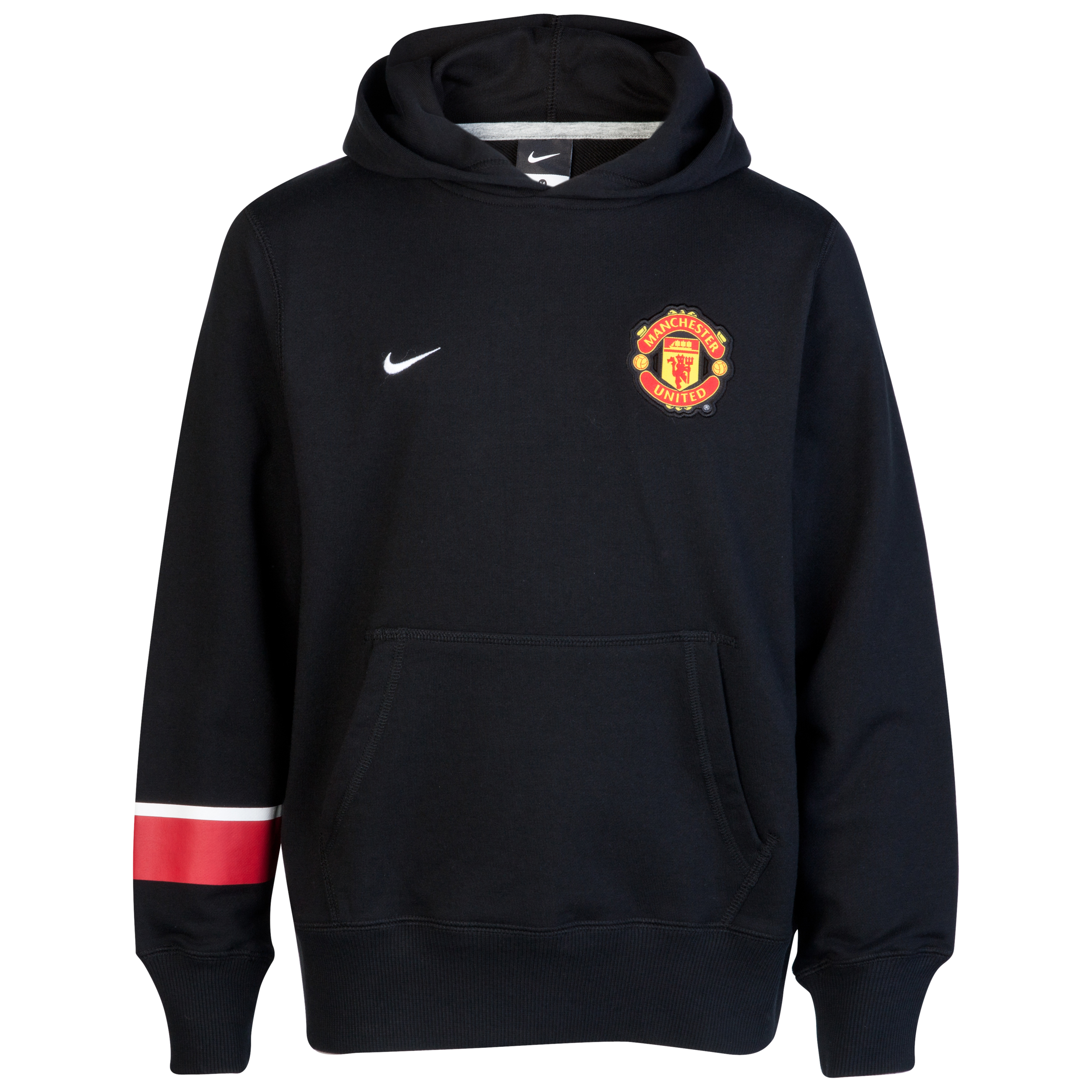 Manchester United Core Hoodie - Black/White - Youths