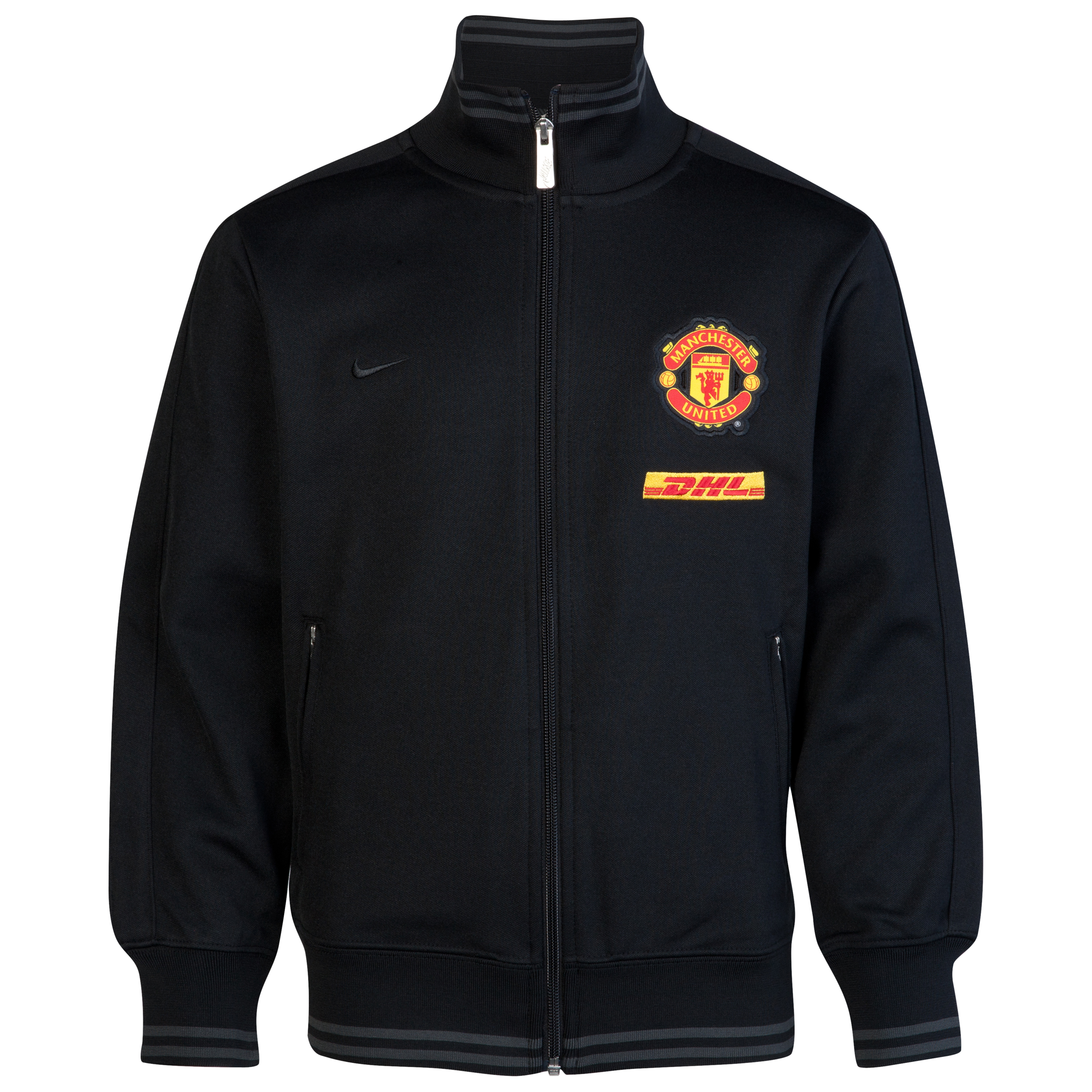 Manchester United Authentic N98 Jacket - DHL - Black/Anthracite/Black - Youths