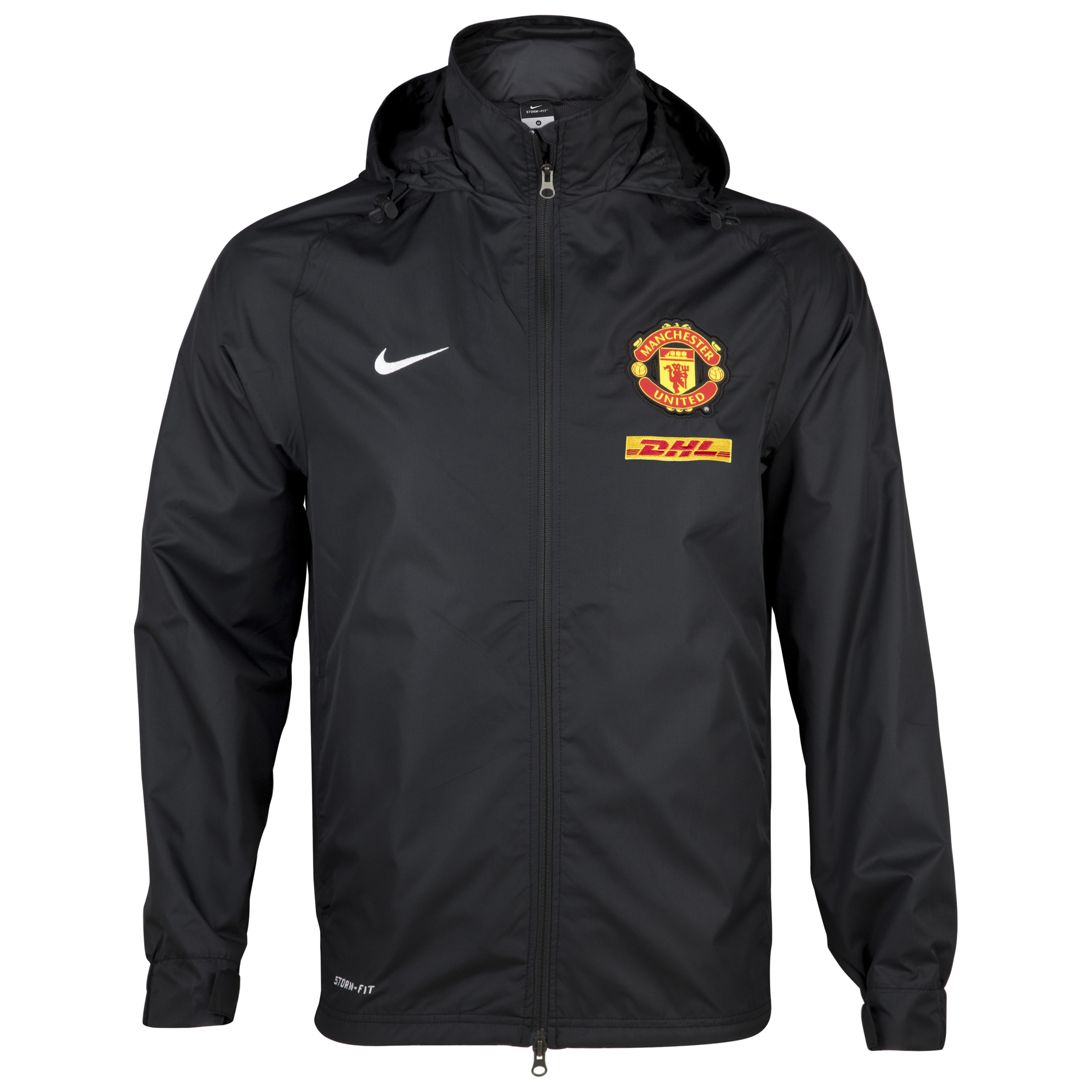 Manchester United Rain Jacket - Black/White - Kids