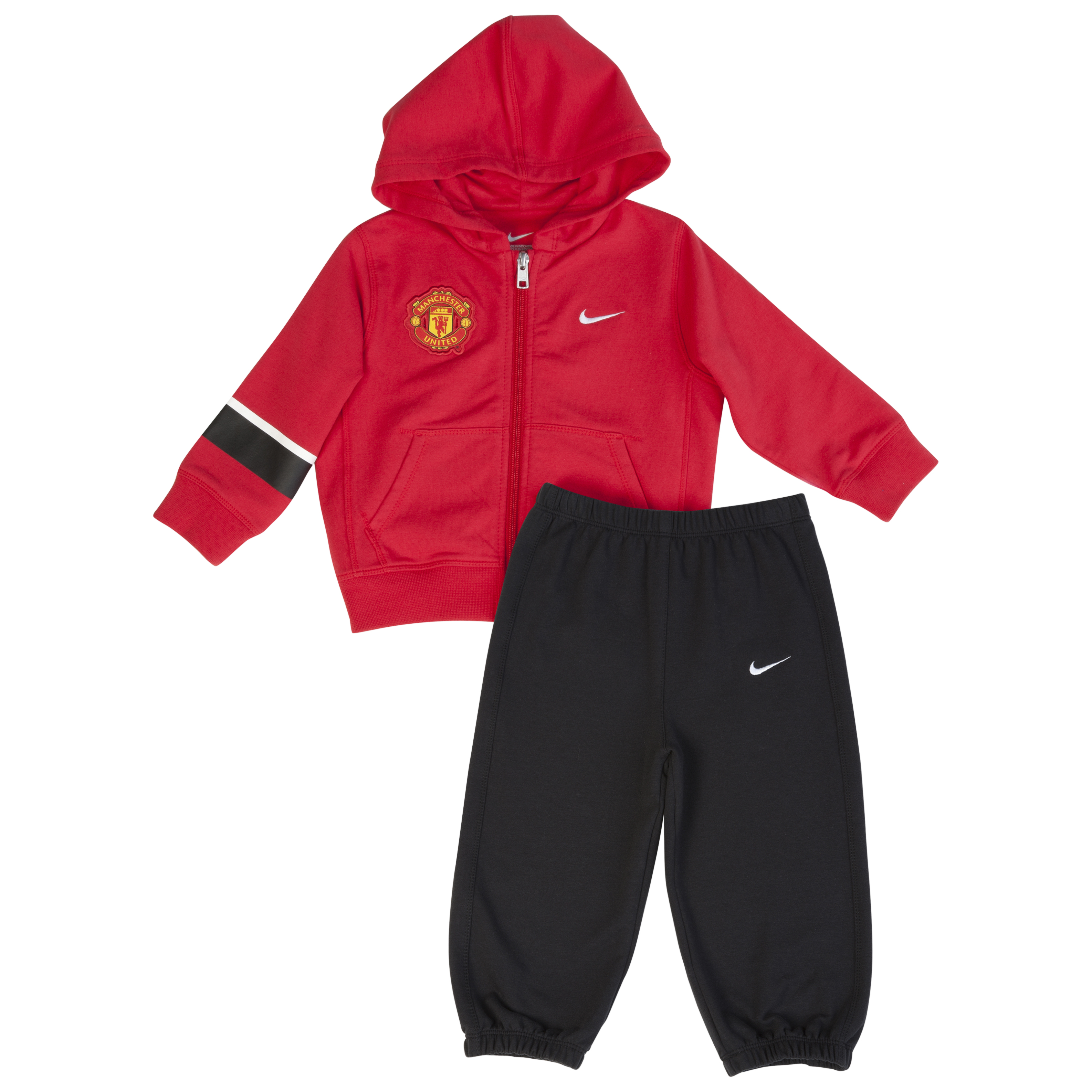 Manchester United Warm-up Tracksuit - Diablo Red/Black/White - Infants