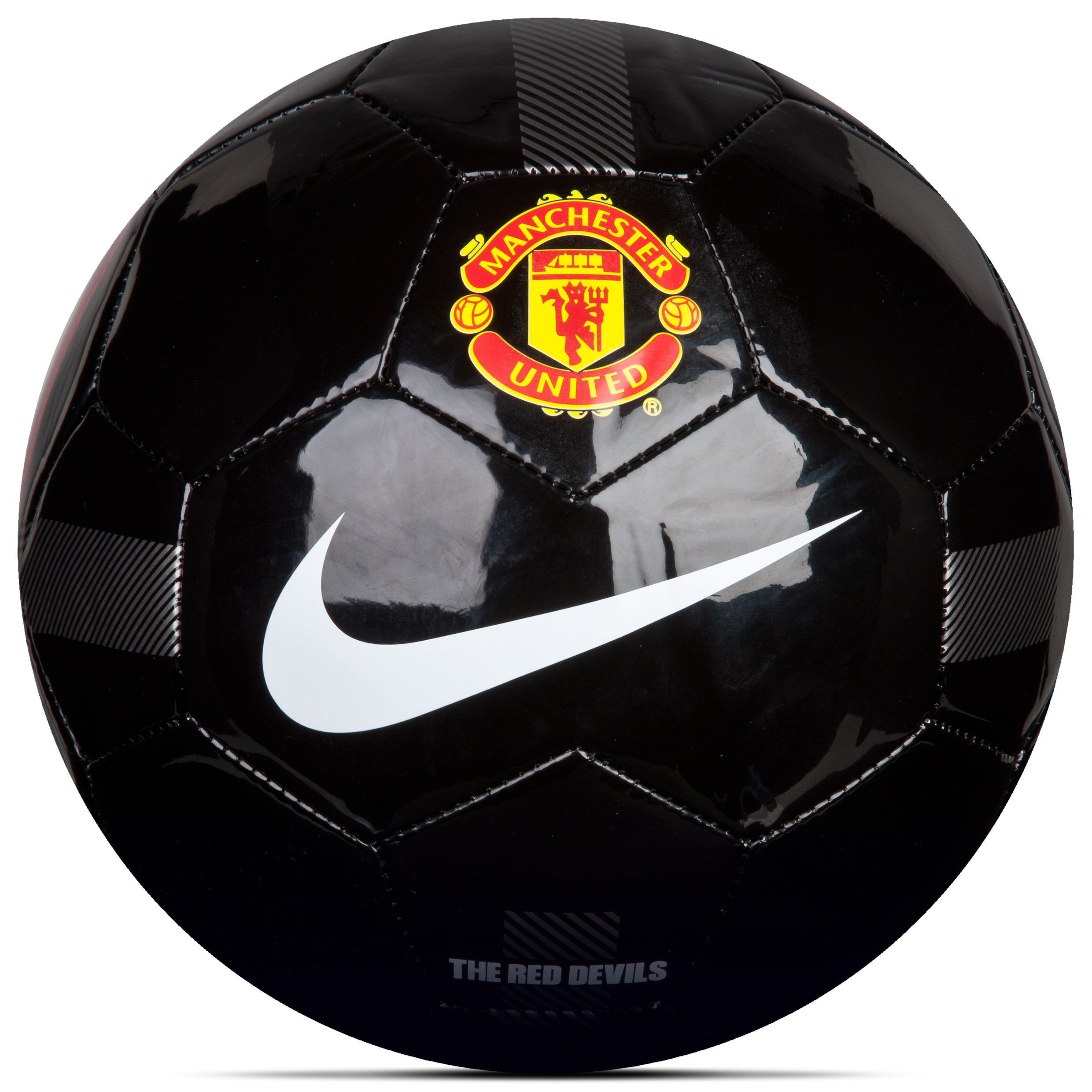 Manchester United Supporters Football - Black/White/White - Size 5