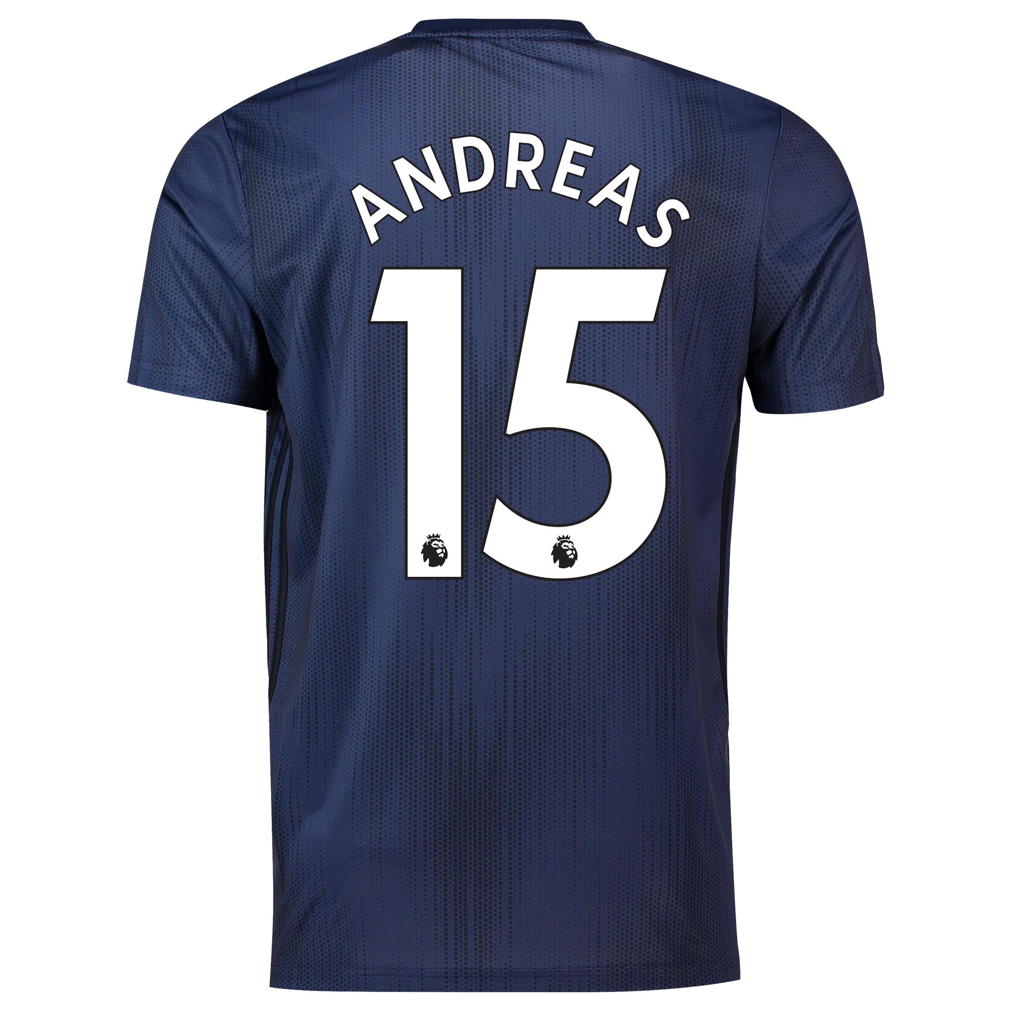 Camiseta de la tercera equipación del Manchester United 2018-19 dorsal Andreas 15