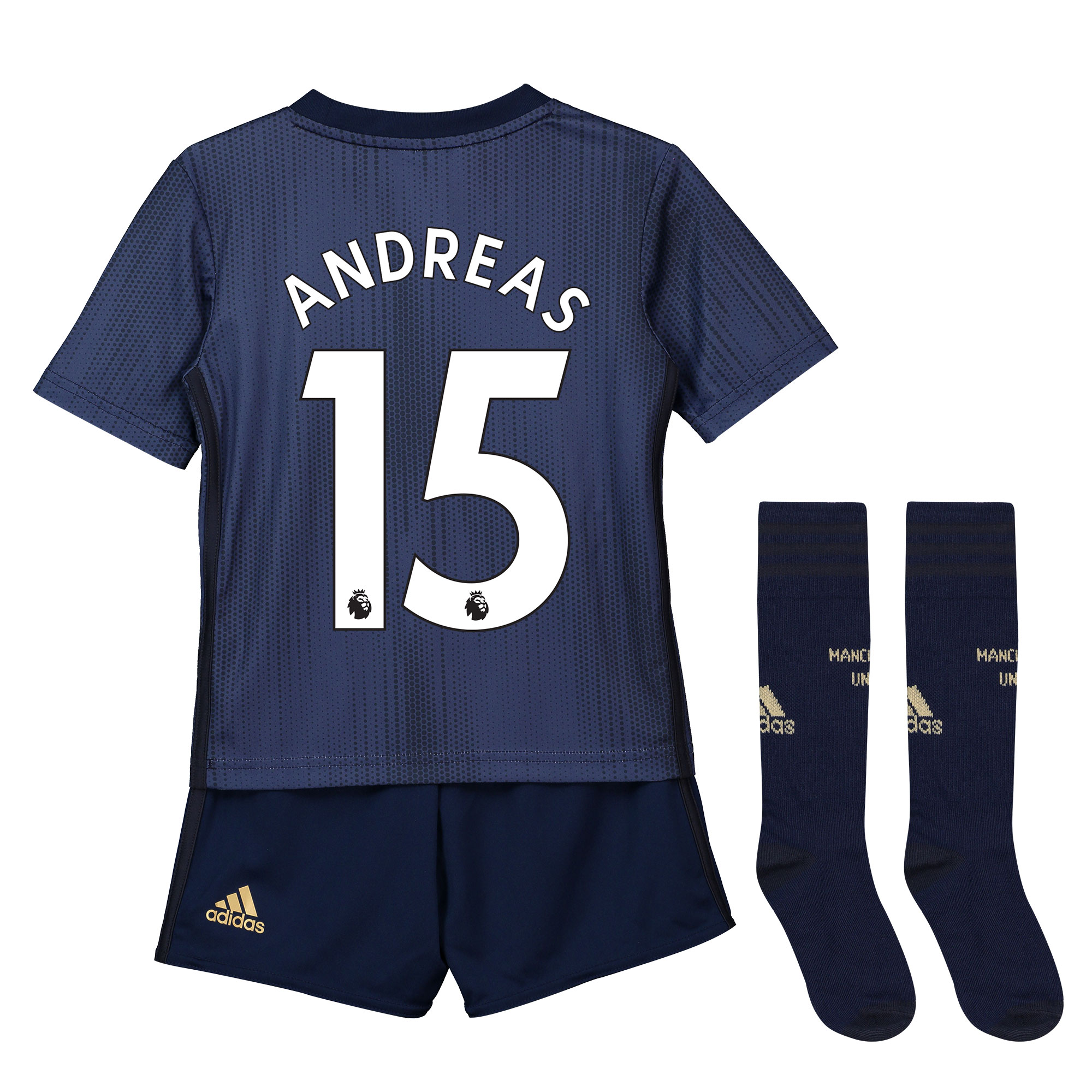 Adidas Tercera equipación en tamaño mini del Manchester United 2018-19 dorsal Andreas 15
