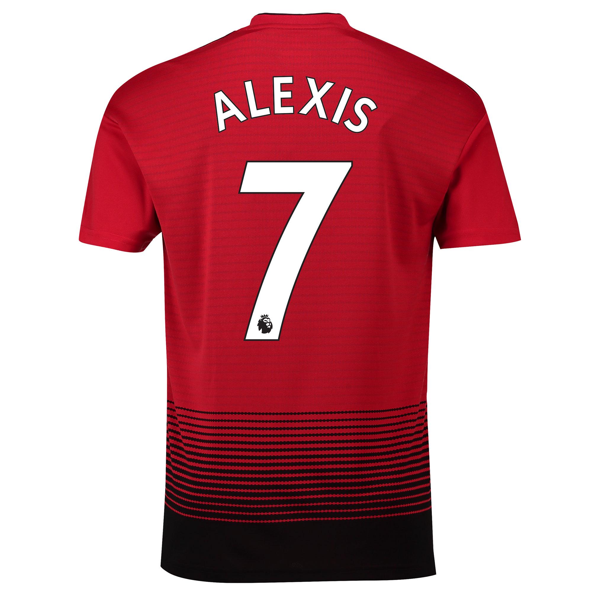 マンチェスター ユナイテッド ホーム シャツ 2018-19 - Alexis 7 プリント