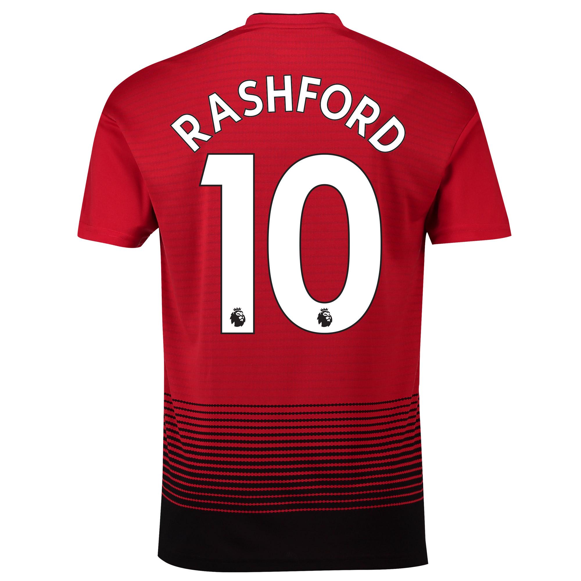 マンチェスター ユナイテッド ホーム シャツ 2018-19 - Rashford 19 プリント