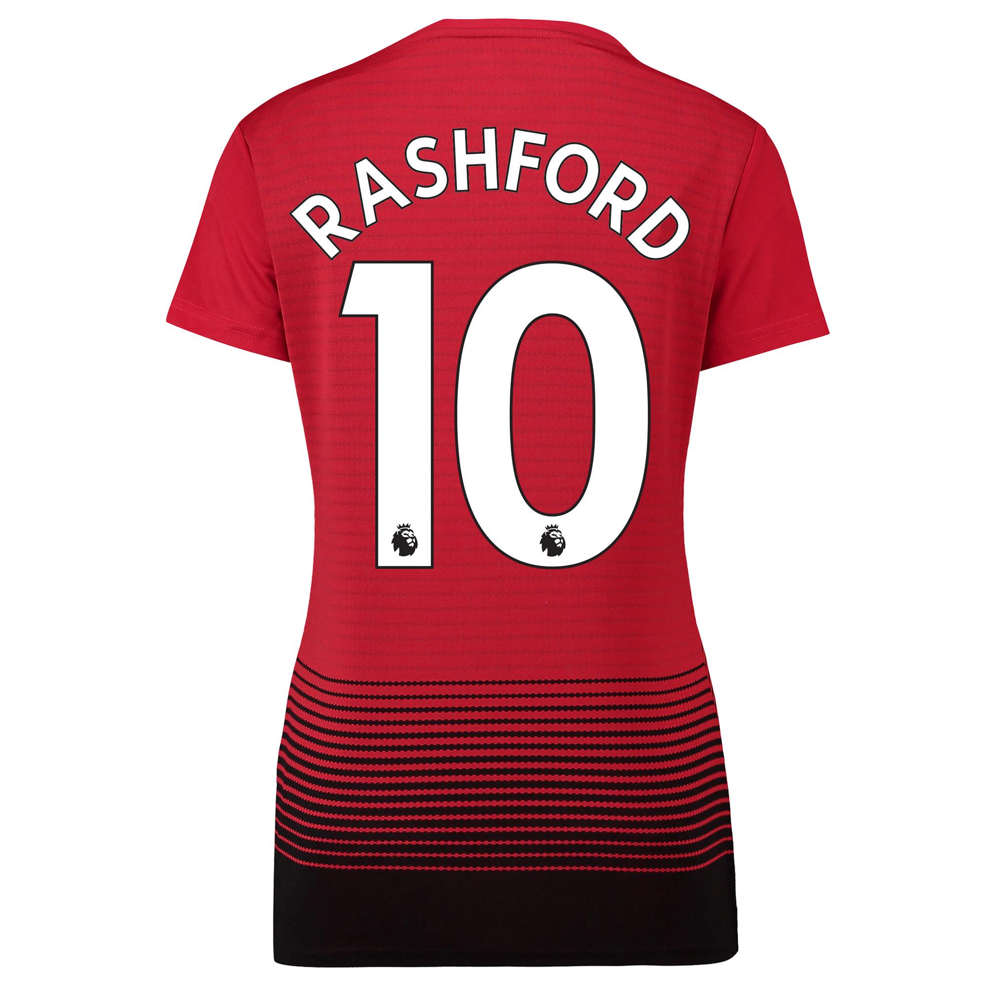 Camiseta de la equipación local del Manchester United 2018-19 para mujer dorsal Rashford 10