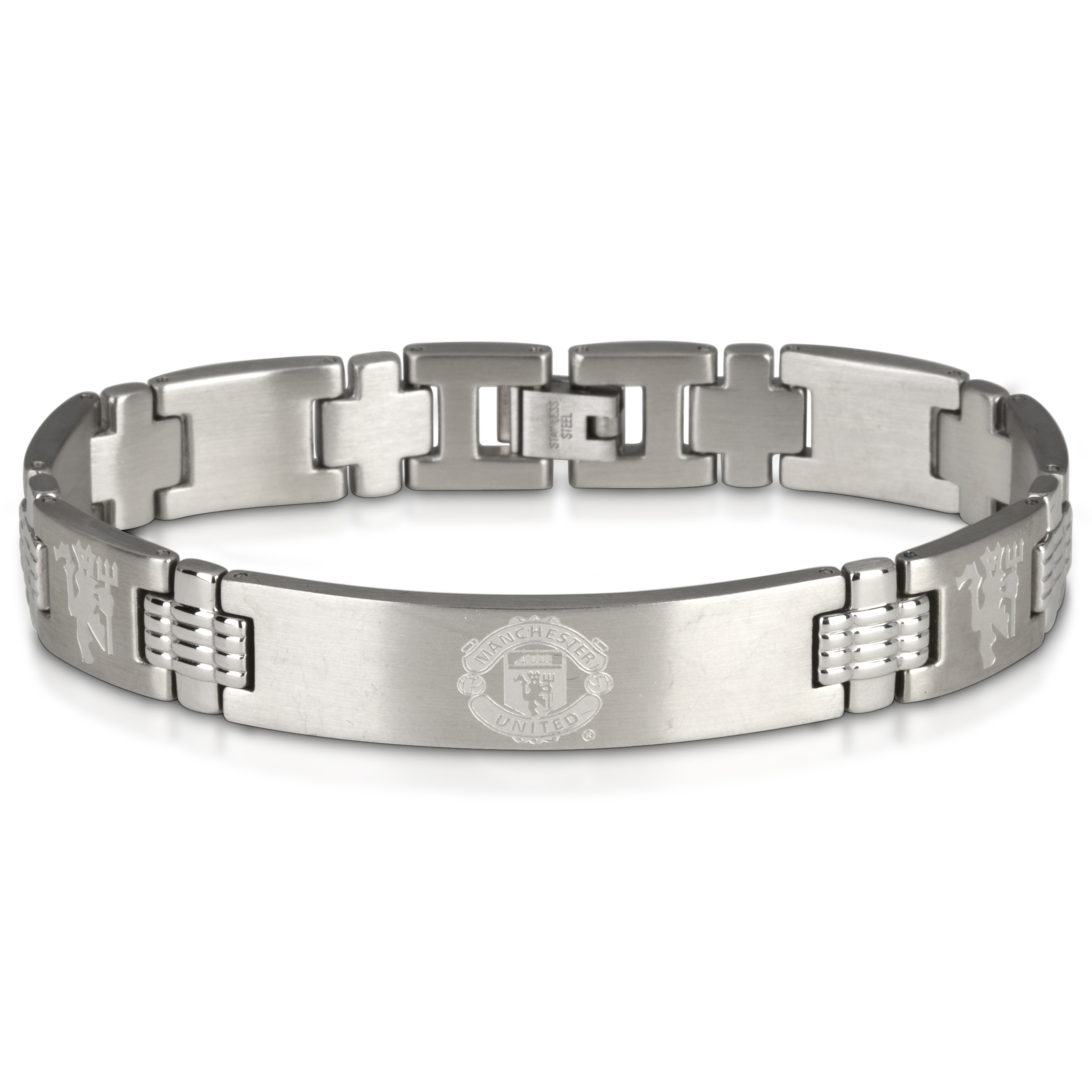 Manchester United Crest with Multi Devil Bracelet - Stainless Steel