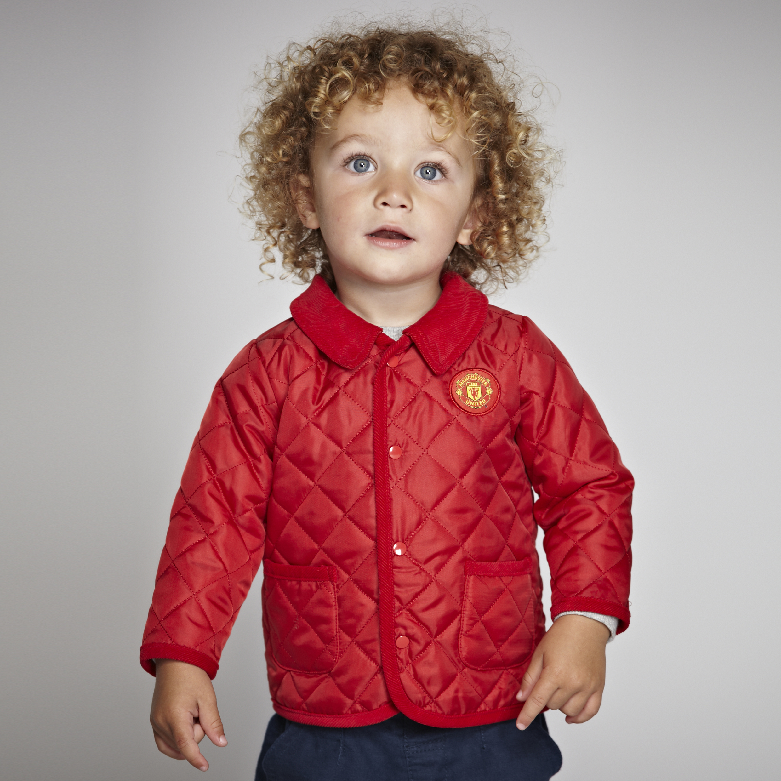 Manchester United Quilted Jacket - Red - Baby