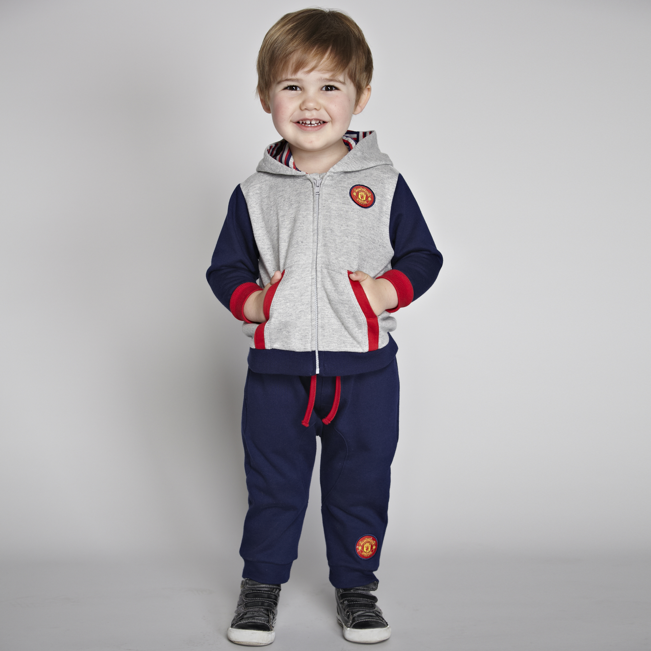 Manchester United Hareem Jog Suit - Navy/Grey Marl - Baby Boys