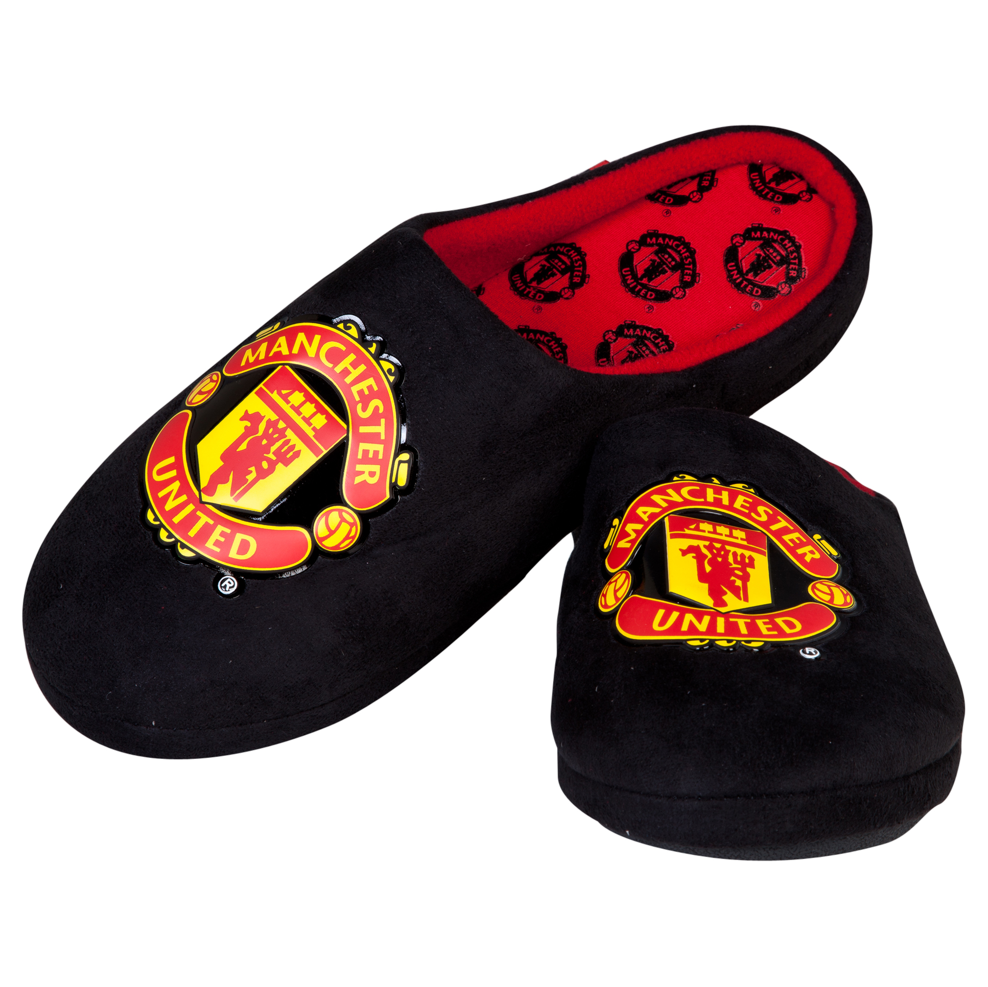Manchester United Defender Crest Slipper - Black/Red - Mens