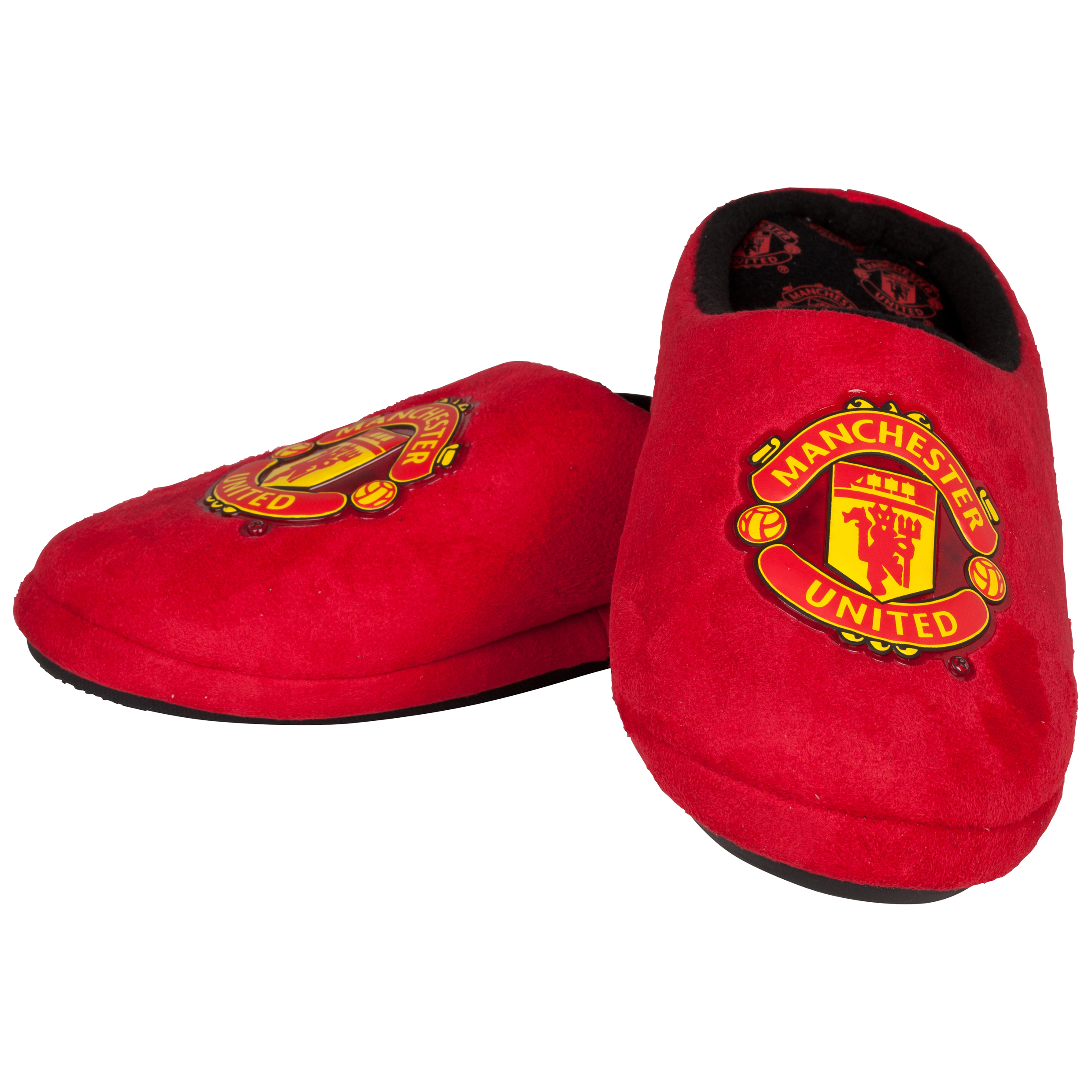 Manchester United Defender Crest Slipper - Red/Black - Boys