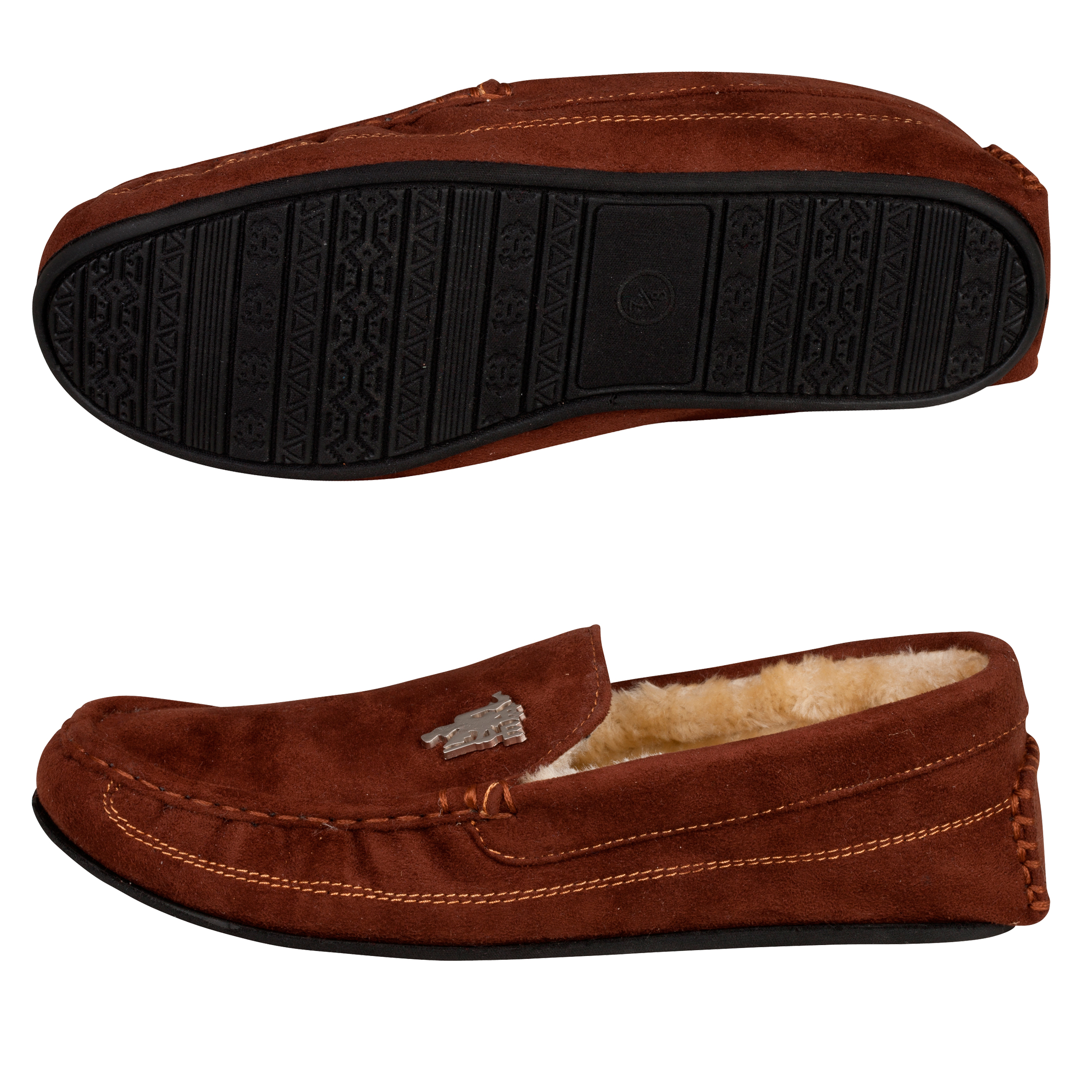 Manchester United Moccasin Slipper - Brown - Mens