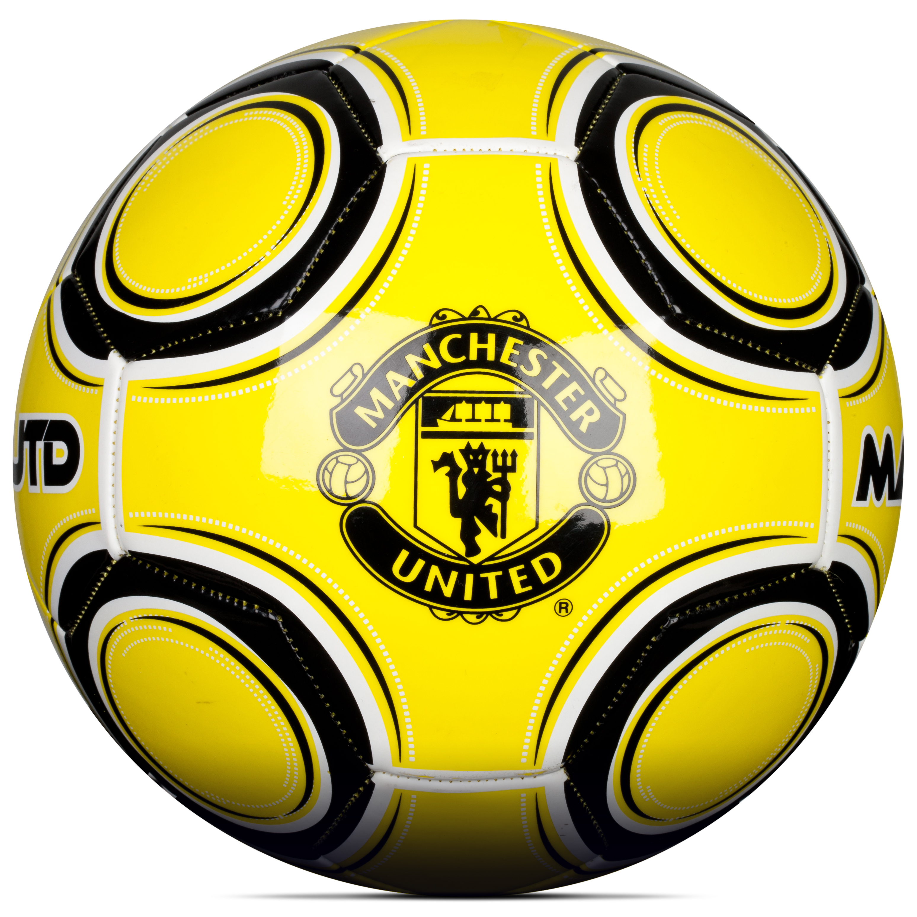 Manchester United Sphere Football - Size 5 - Fluorescent Yellow