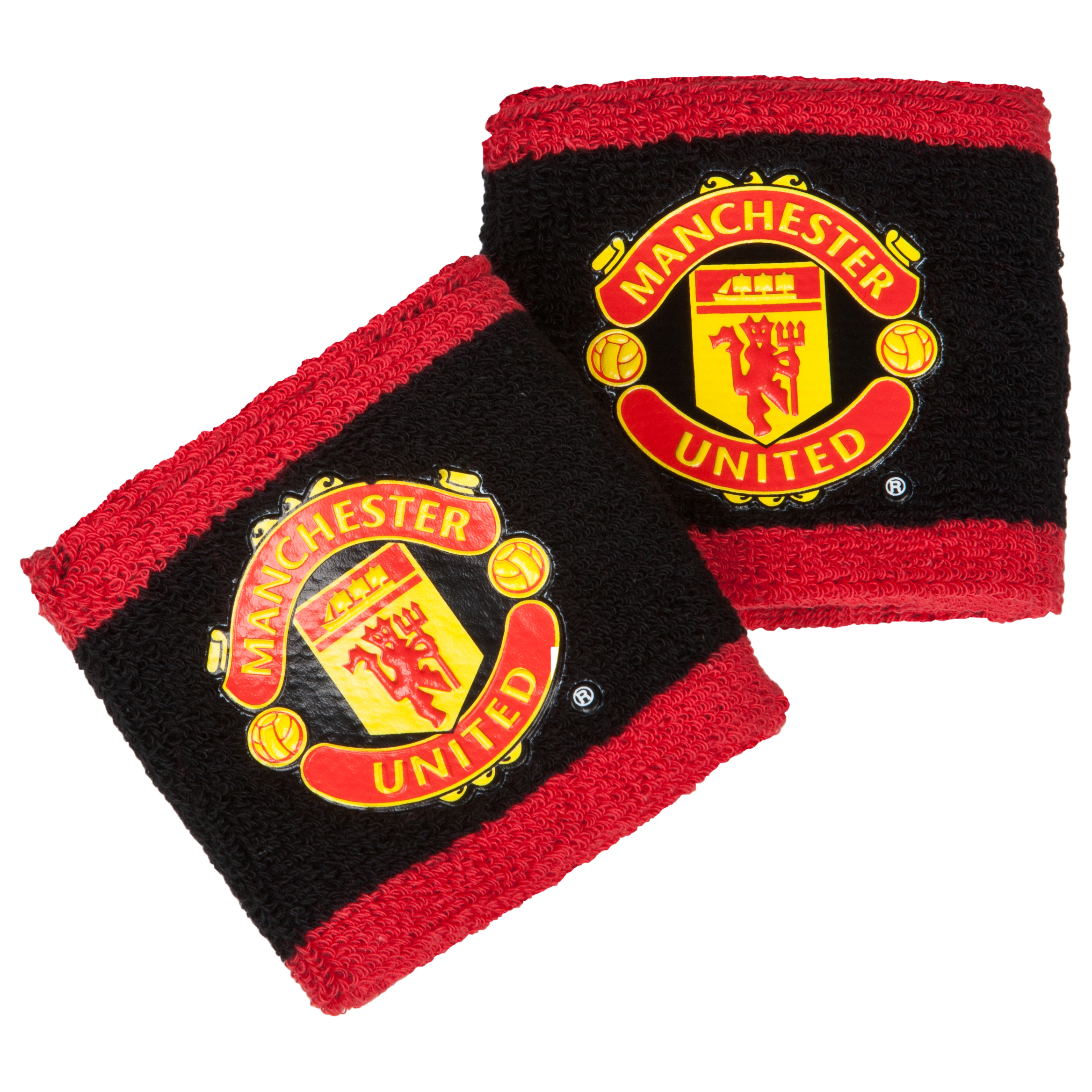 Manchester United Crest Two Tone Wristbands