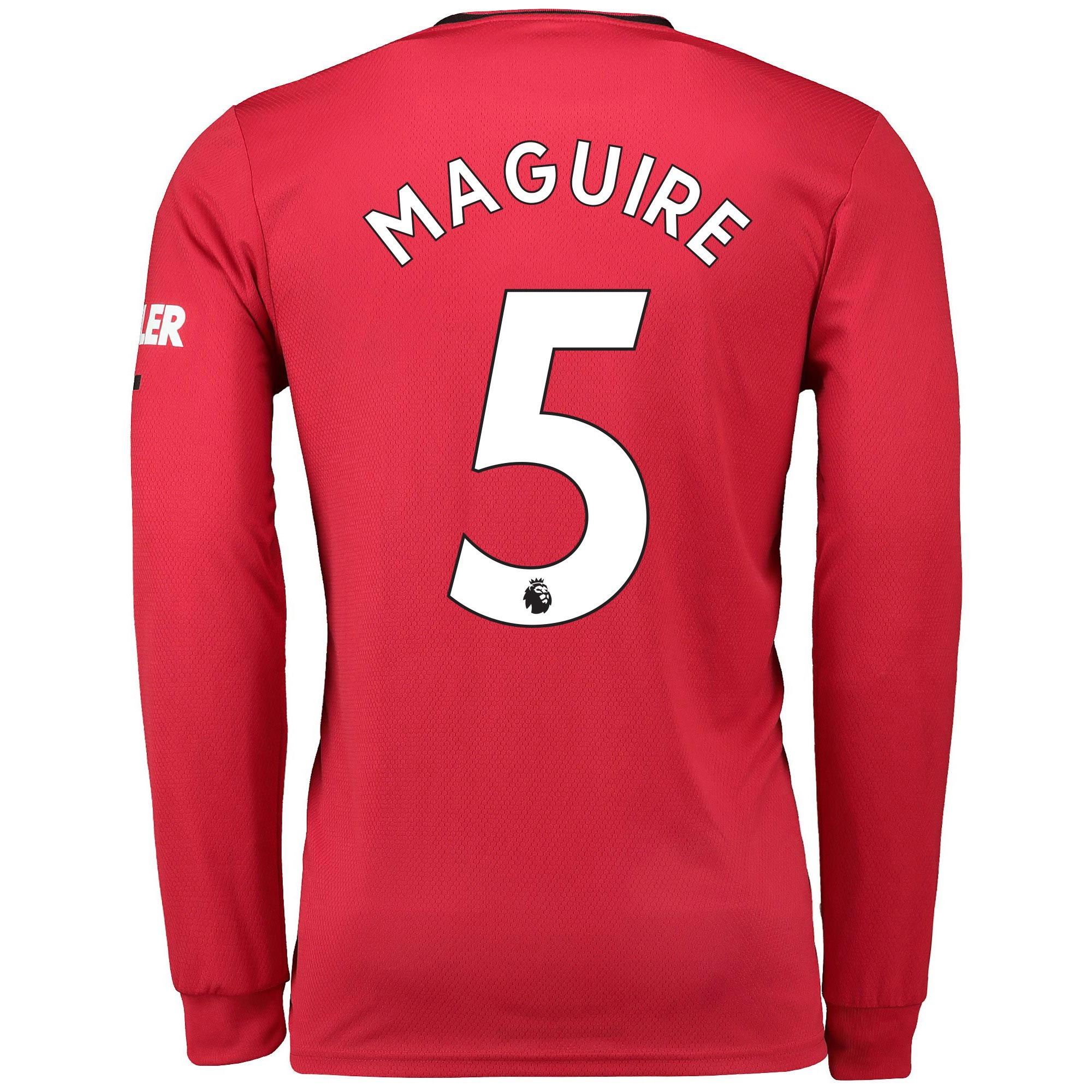 Football Manchester United Home Shirt 2019 - 20 - Long Sleeve with Maguire 5 printing