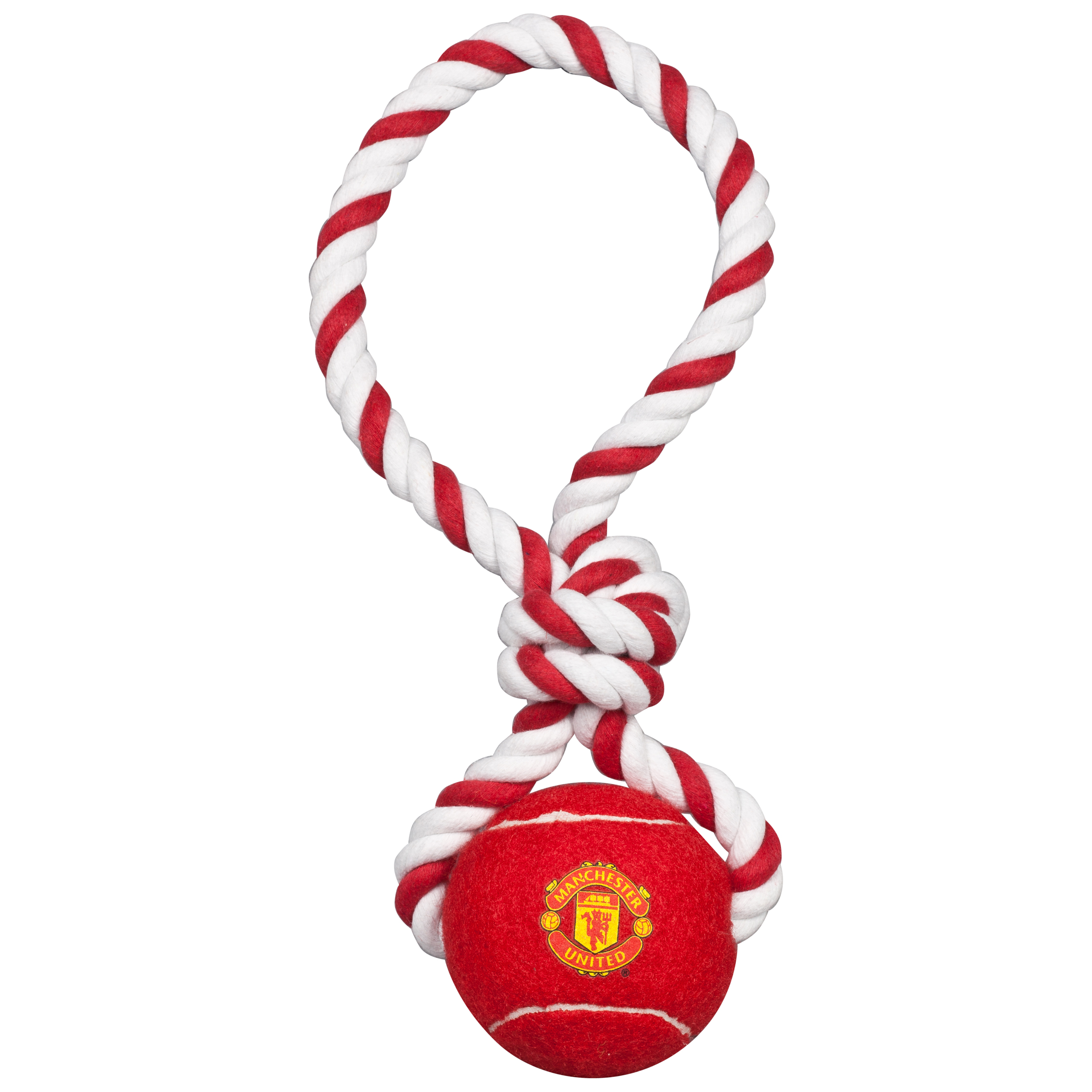 Manchester United Rope and Ball Tugger Dog Toy