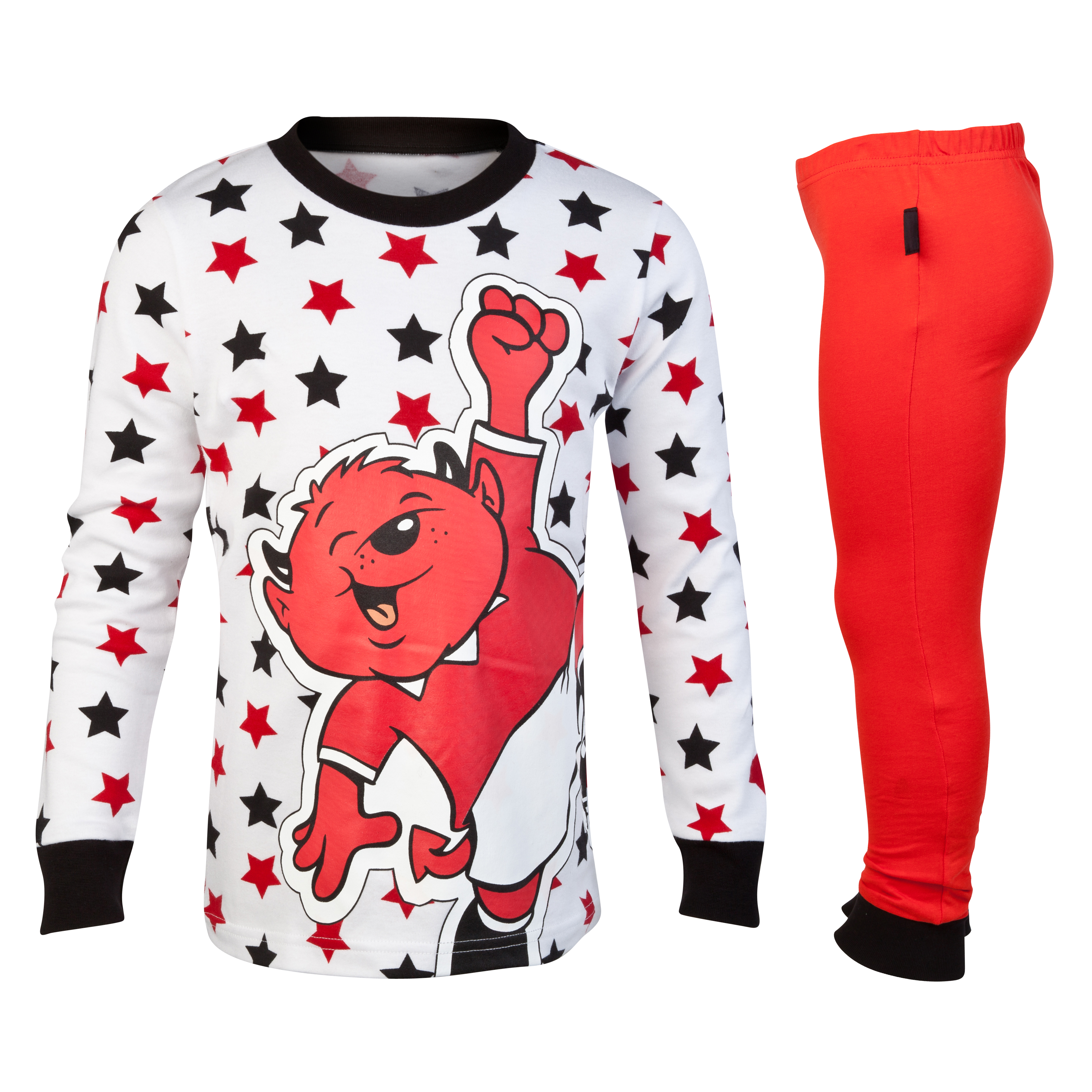 Manchester United Fred The Red Star Snuggle Fit Pyjamas - Red/Black/White - Infant Boys