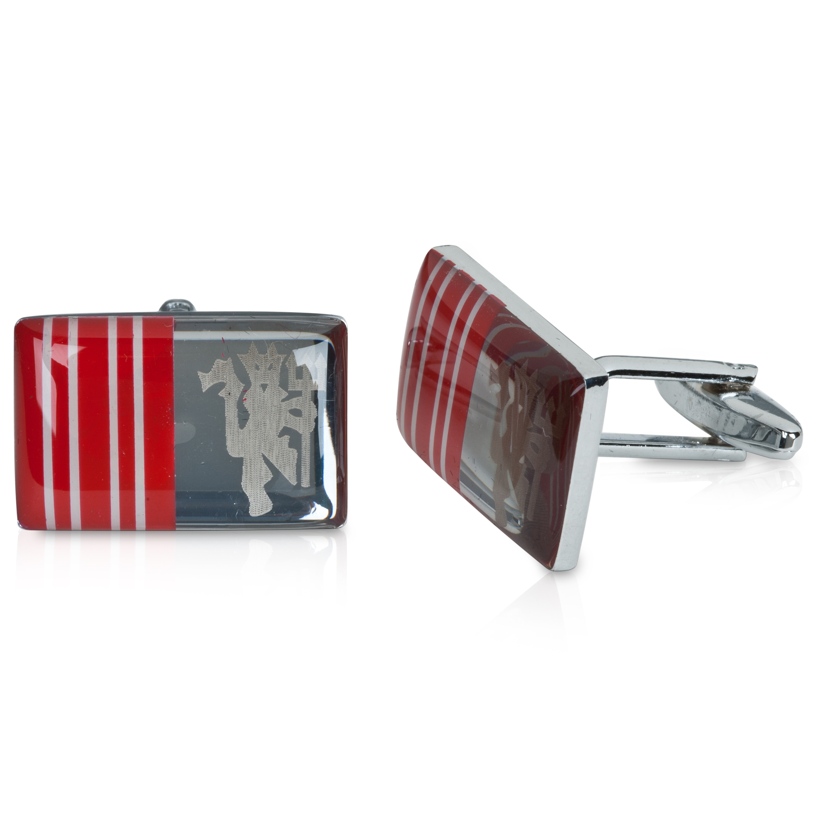 Manchester United Striped Crest Cufflinks