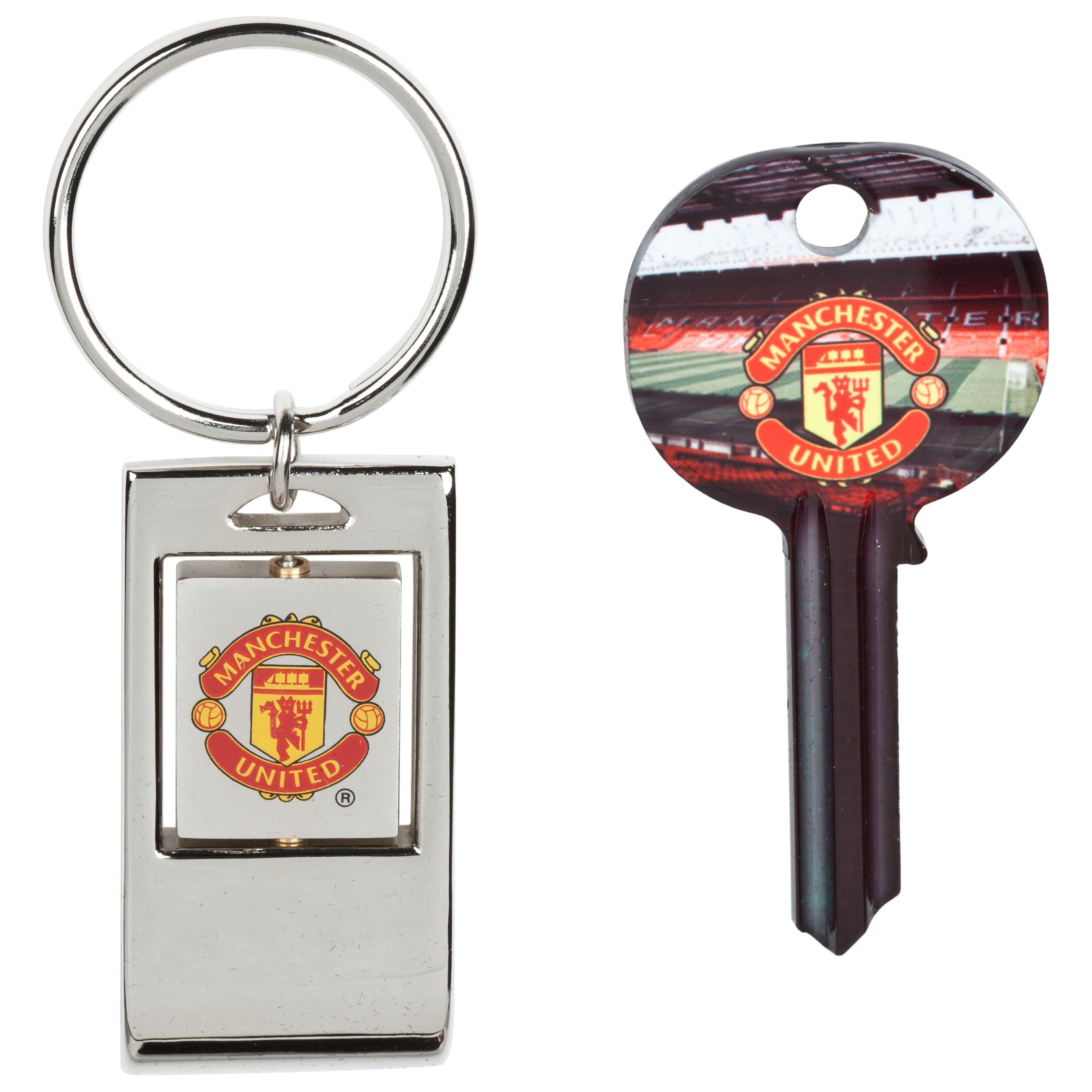 Manchester United Blank Key and Bottle Opener Key Ring Set in Shirt Shaped Tin