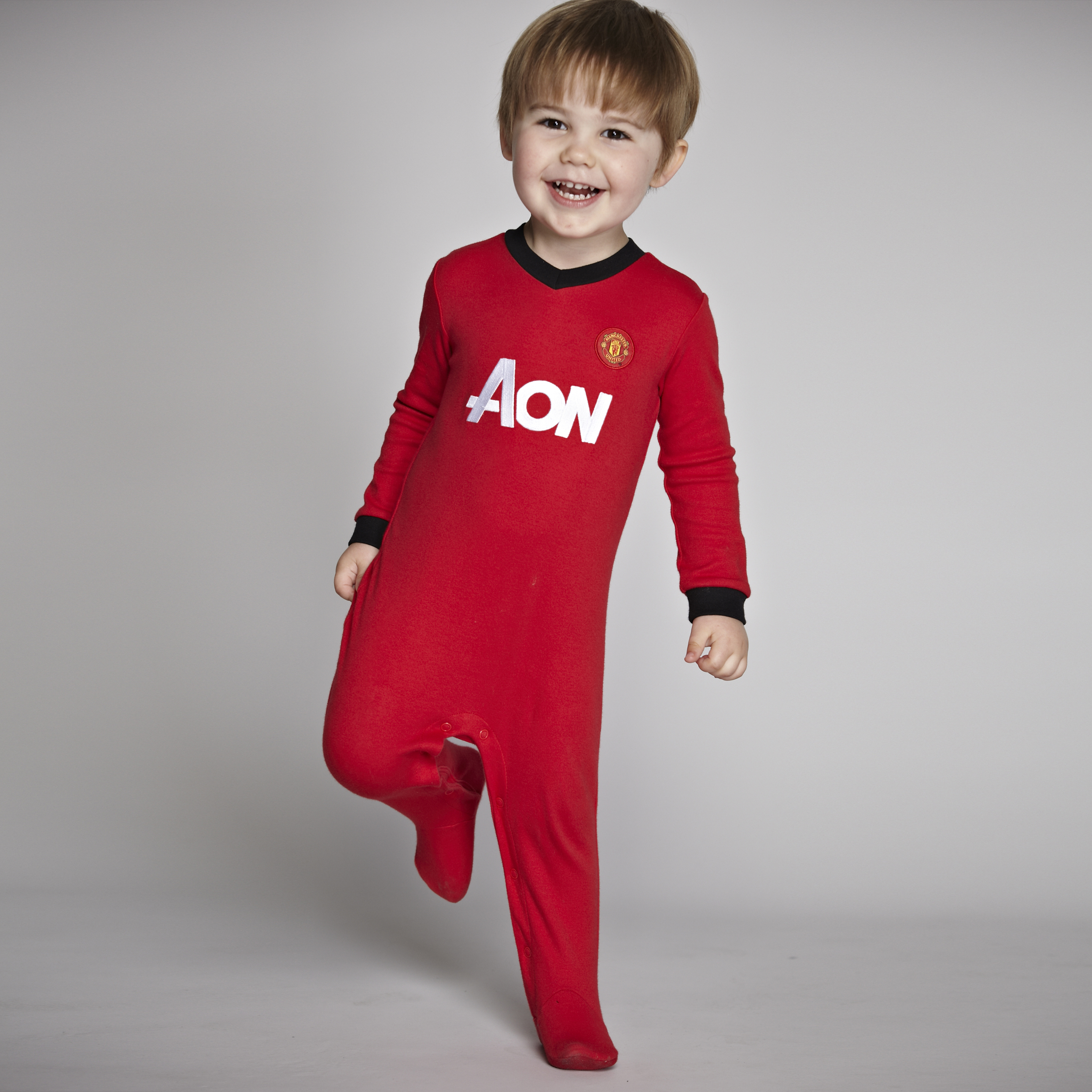 Manchester United Core Kit Sleepsuit - Red - Baby