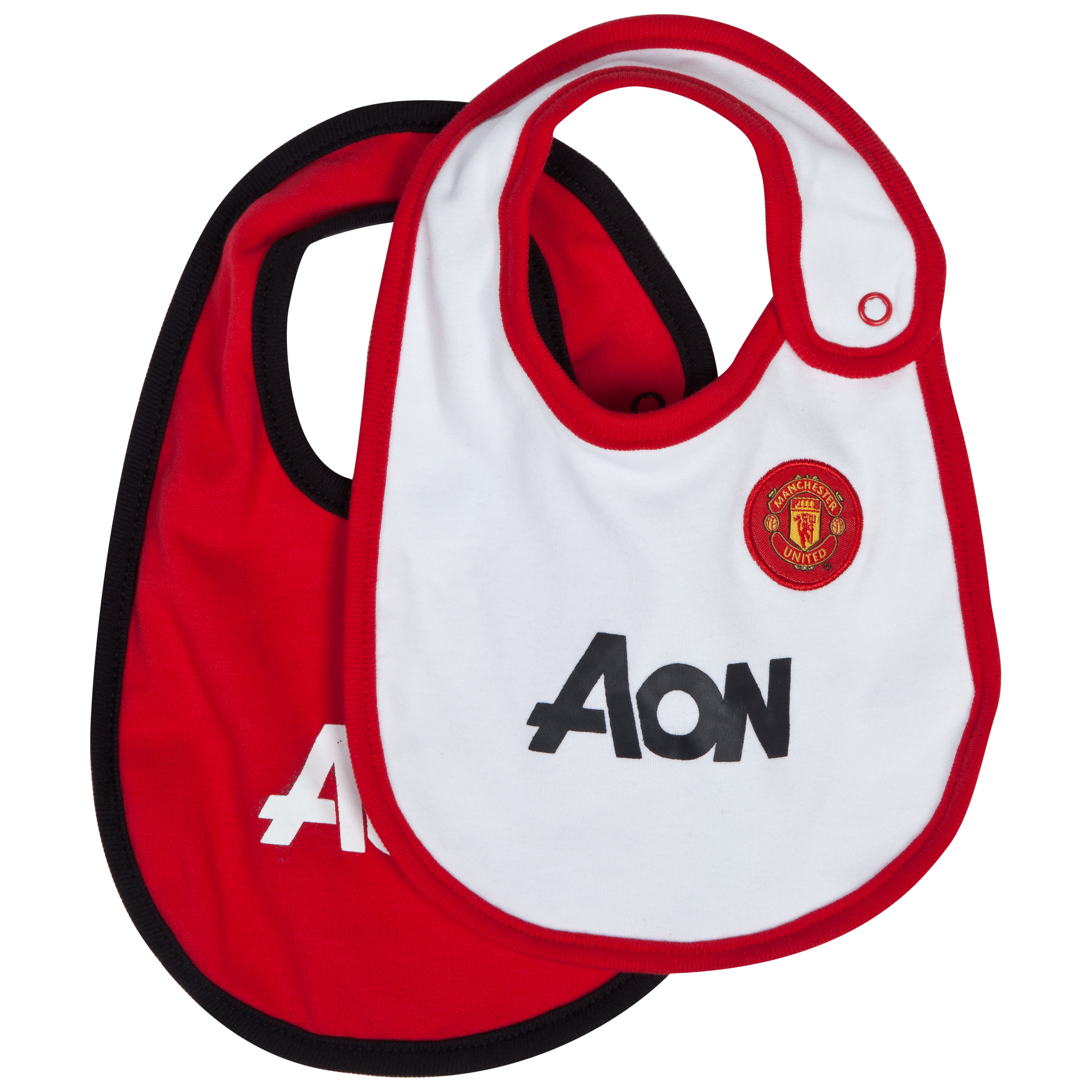 Manchester United Core Kit 2 Pack Bibs - Red/White - Baby