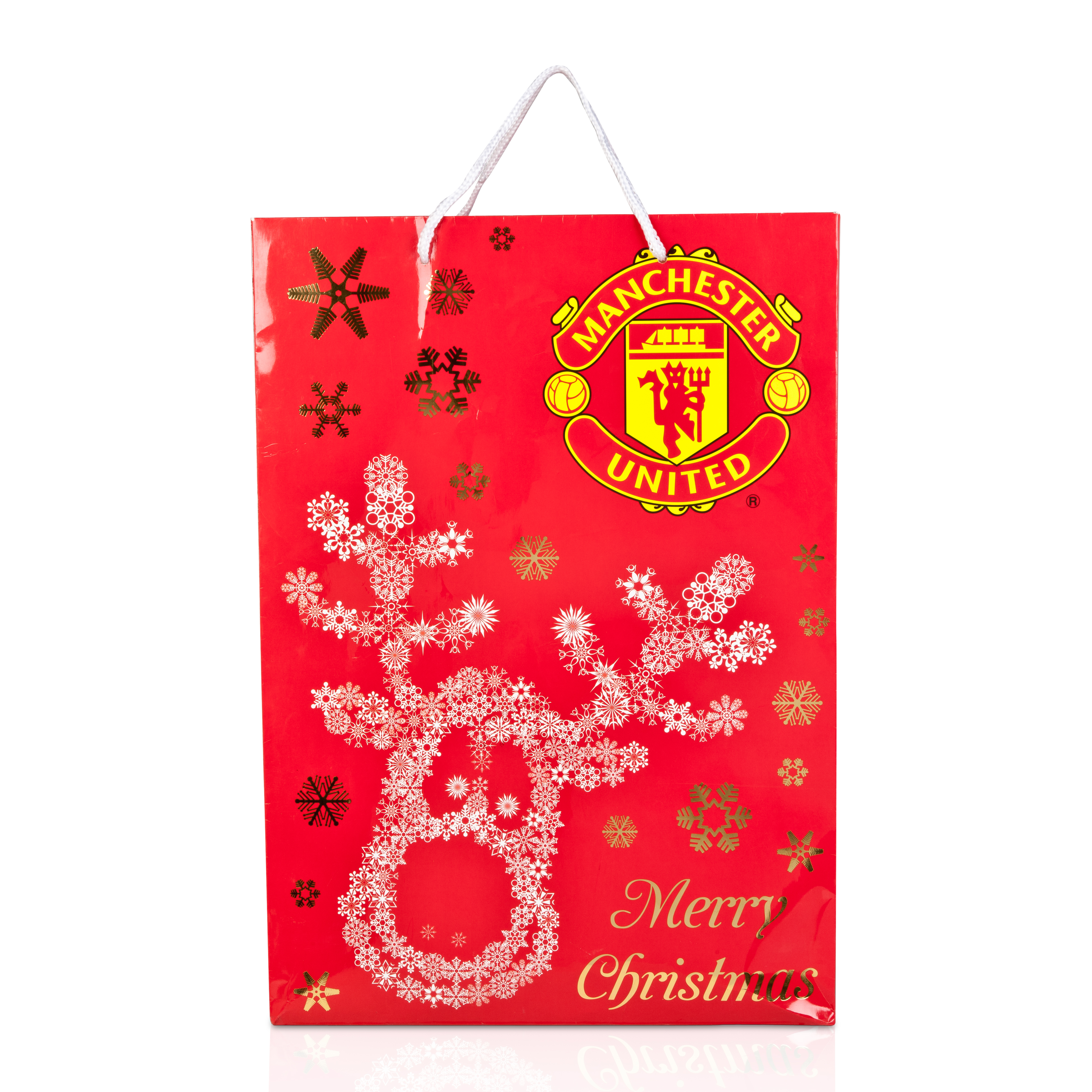 Manchester United Christmas Gift Bag - 45 x 32 x 10cm